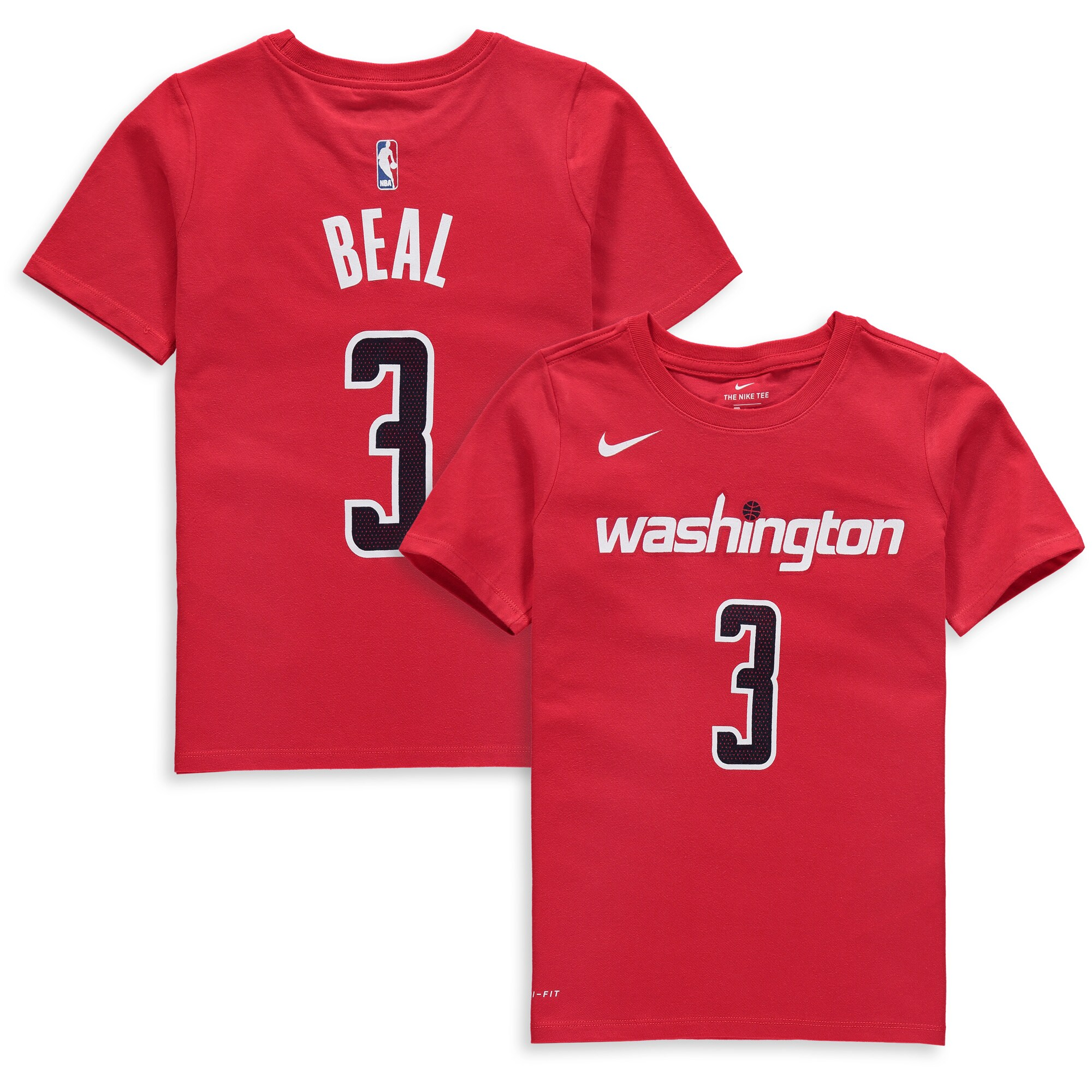 Bradley Beal Washington Wizards Nike Youth Name & Number Performance T-Shirt - Red