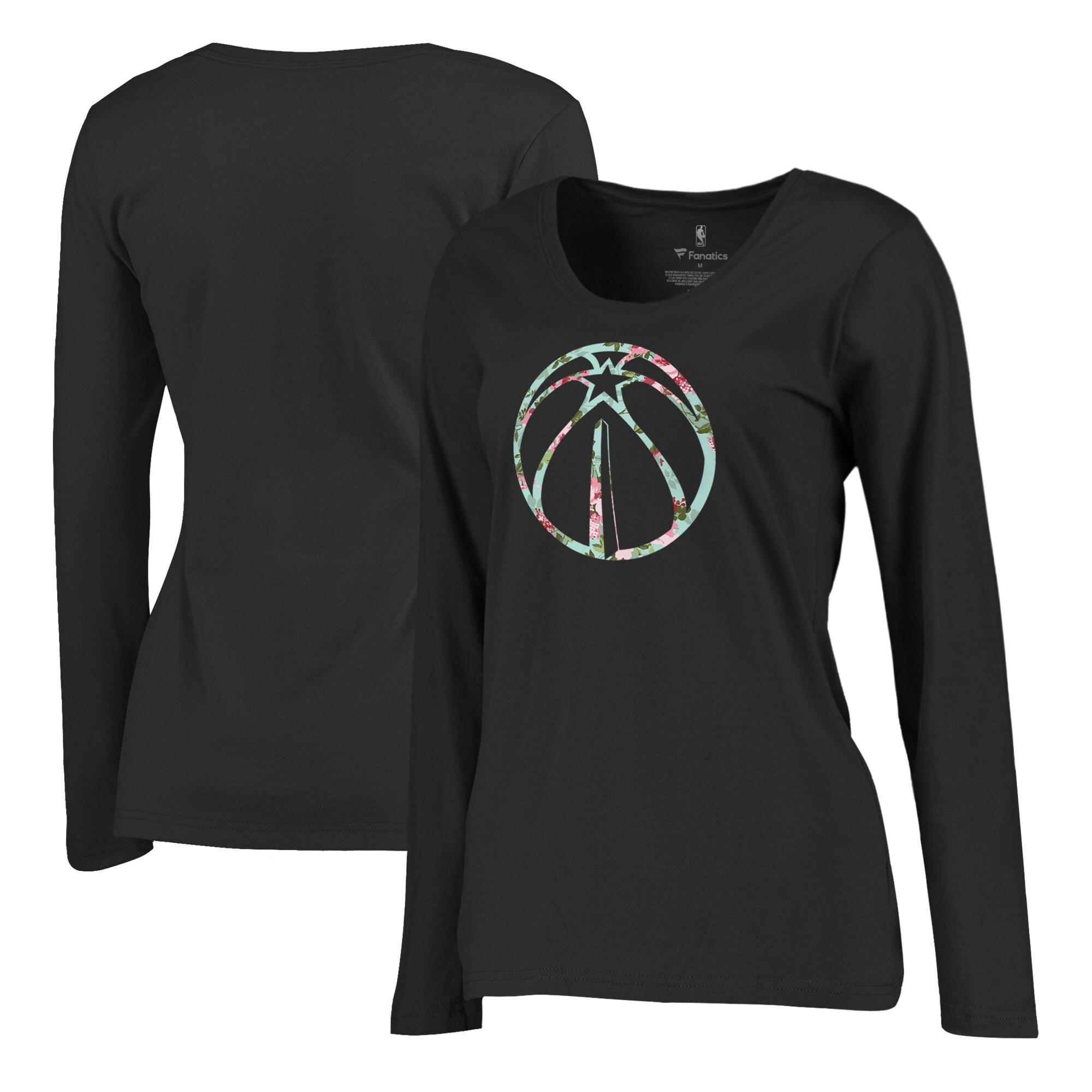 Washington Wizards Fanatics Branded Women's Lovely Plus Size Long Sleeve T-Shirt - Black