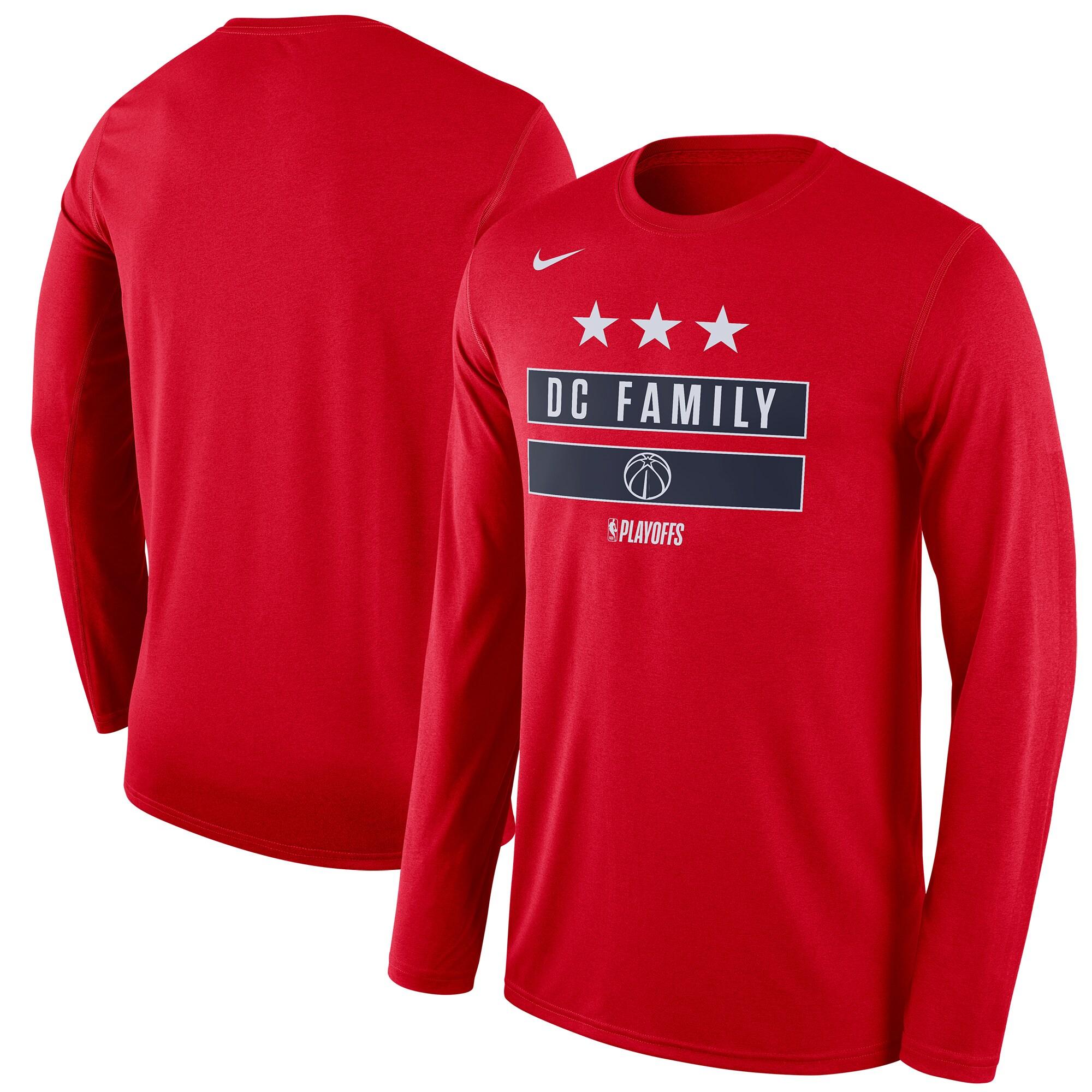 Washington Wizards Nike NBA Playoffs Mantra Legend Long Sleeve T-Shirt - Red