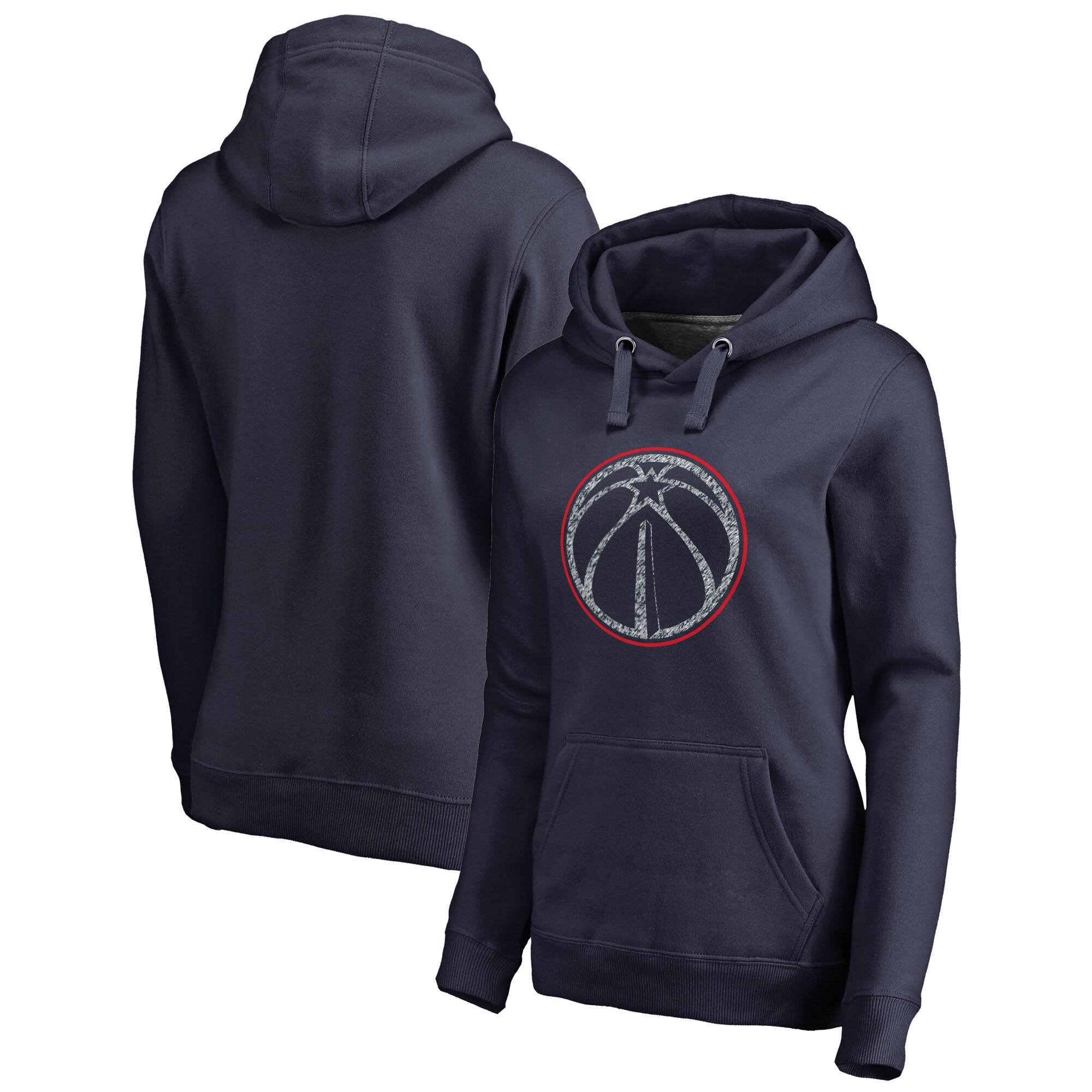 Washington Wizards Fanatics Branded Women's Static Logo Pullover Hoodie - Navy
