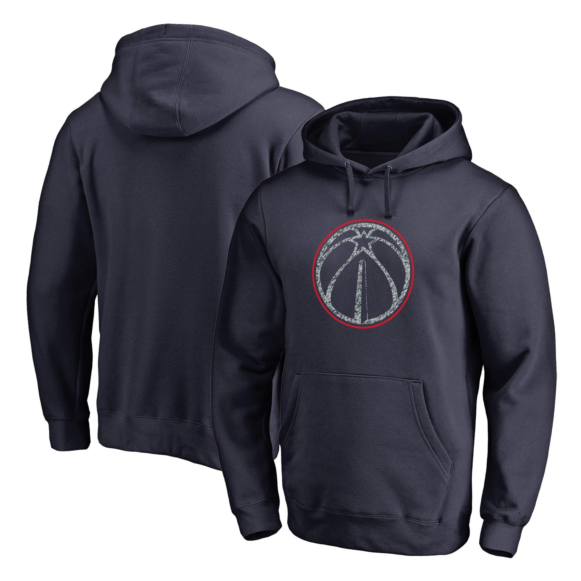 Washington Wizards Fanatics Branded Static Logo Pullover Hoodie - Navy