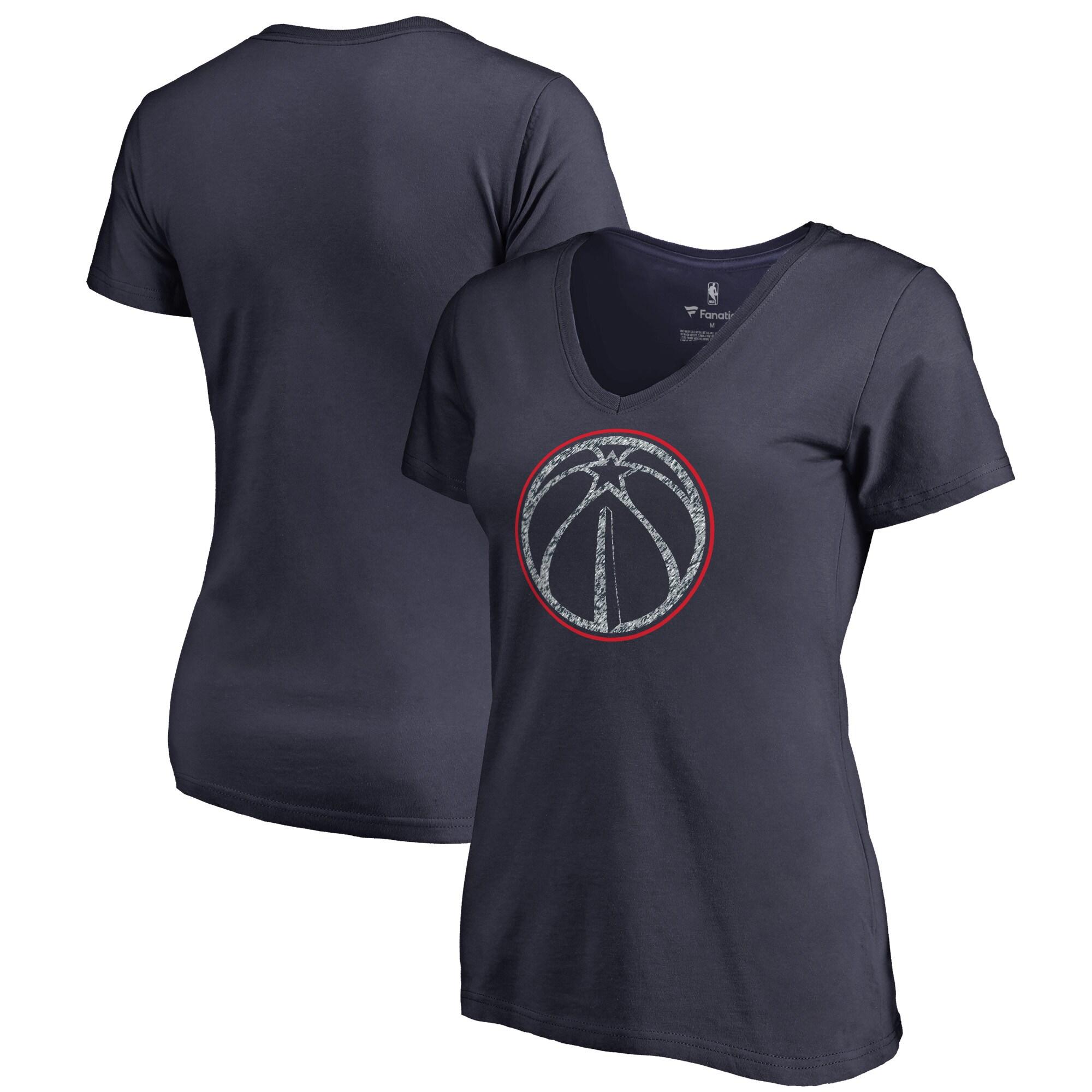 Washington Wizards Fanatics Branded Women's Static Logo Plus Size V-Neck T-Shirt - Navy
