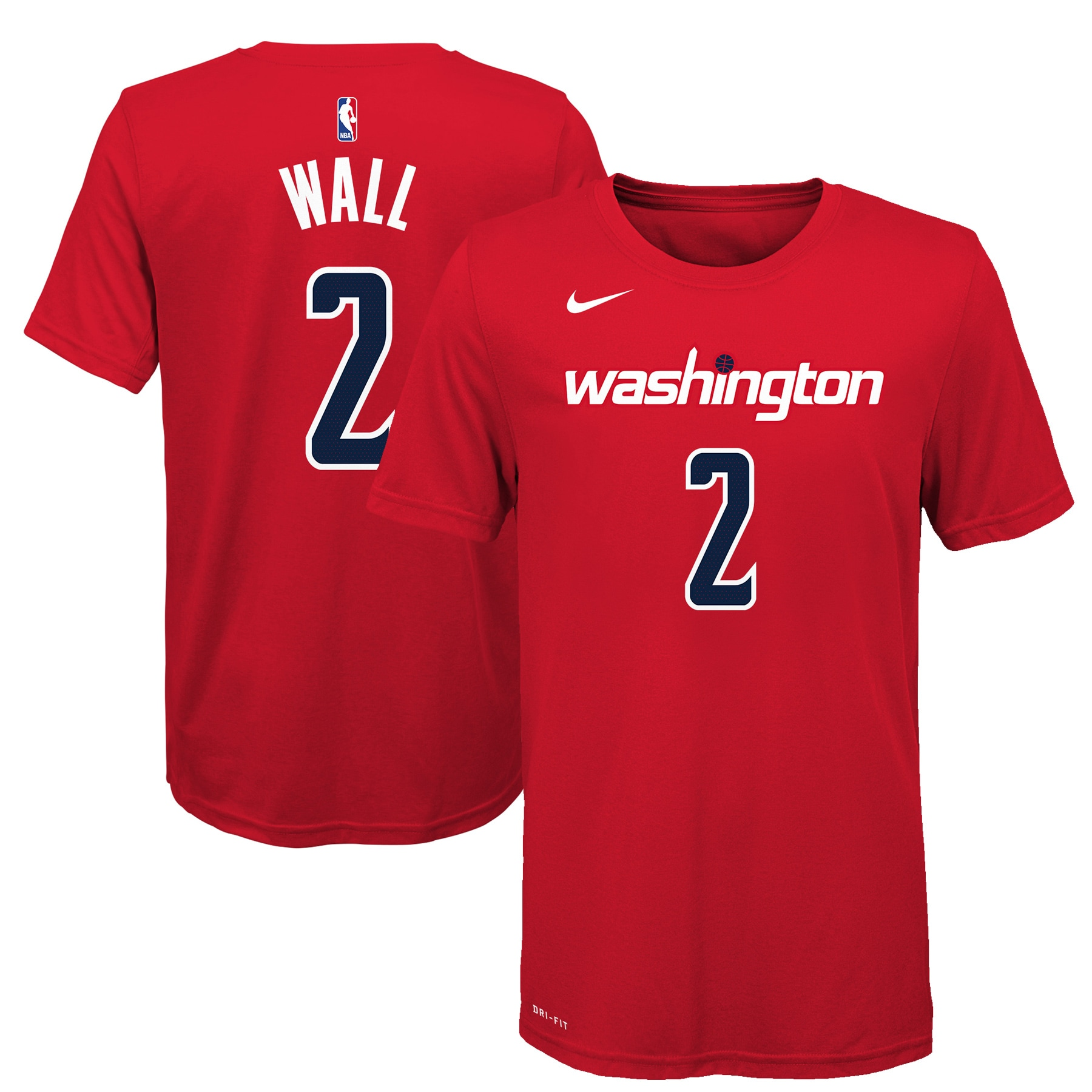 John Wall Washington Wizards Nike Youth Name & Number T-Shirt - Red