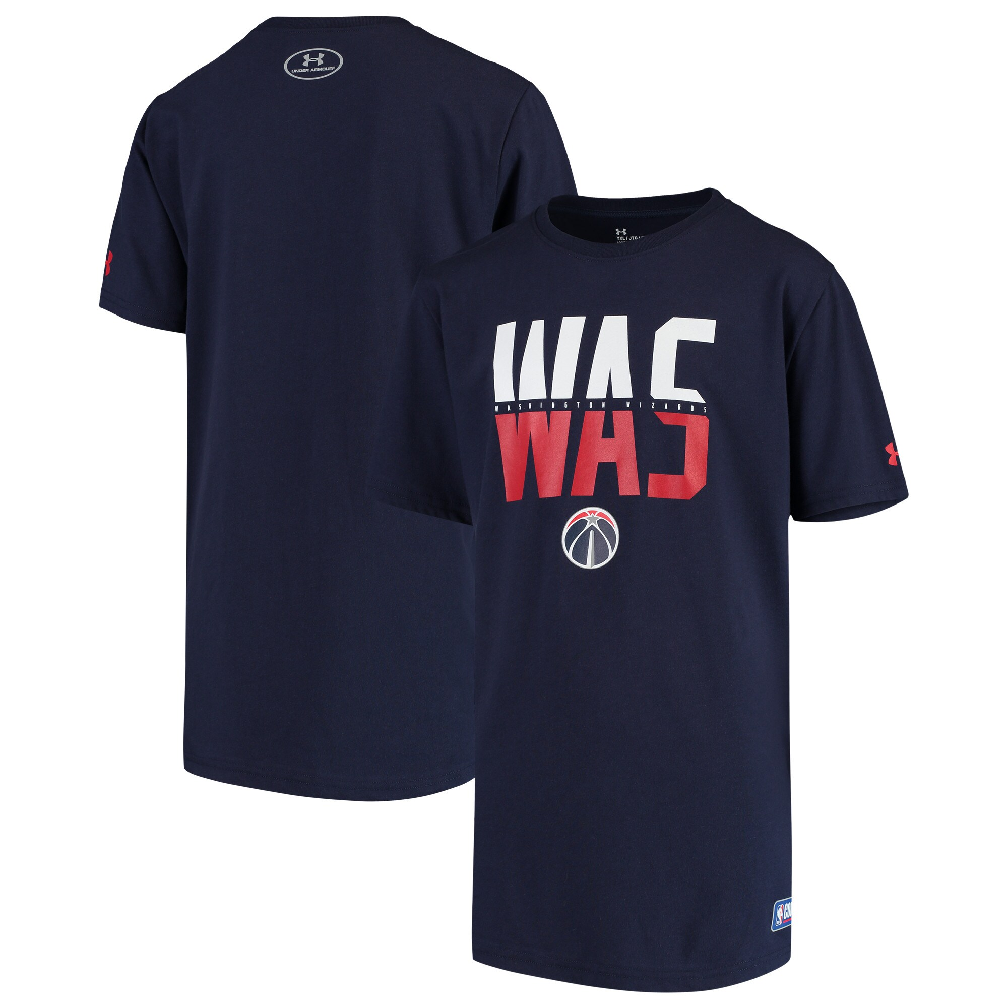 Washington Wizards Under Armour Youth Combine Authentic City Performance T-Shirt - Navy