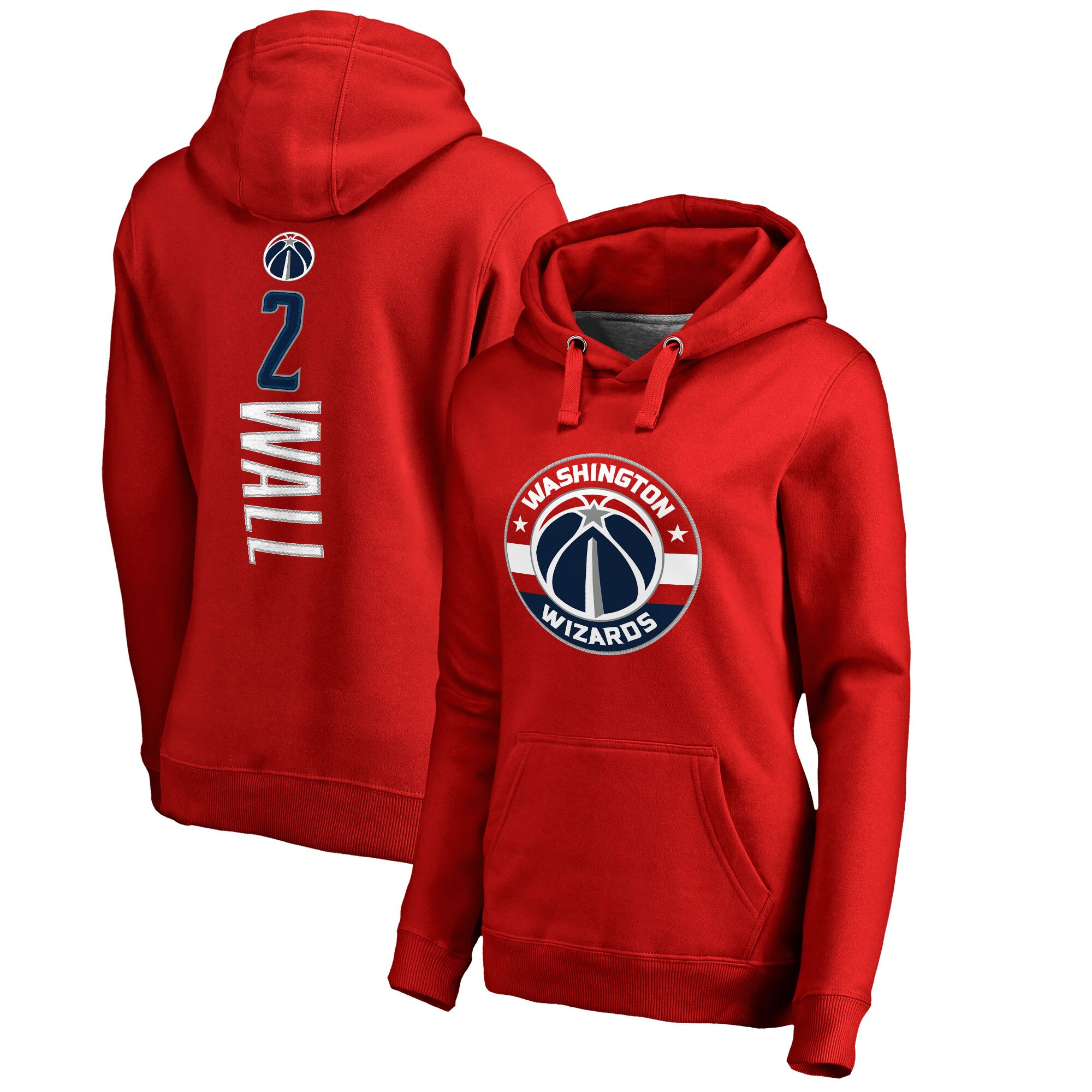 John Wall Washington Wizards Fanatics Branded Women's Backer Name & Number Pullover Hoodie - Red