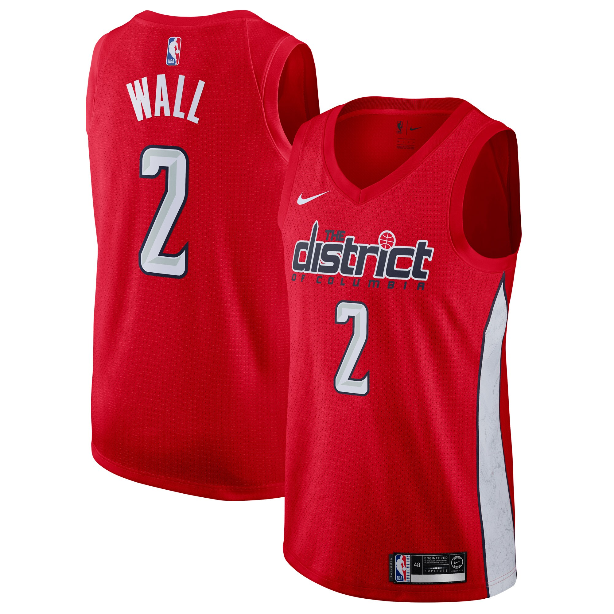 John Wall Washington Wizards Nike Youth 2018/19 Swingman Jersey Red - Earned Edition