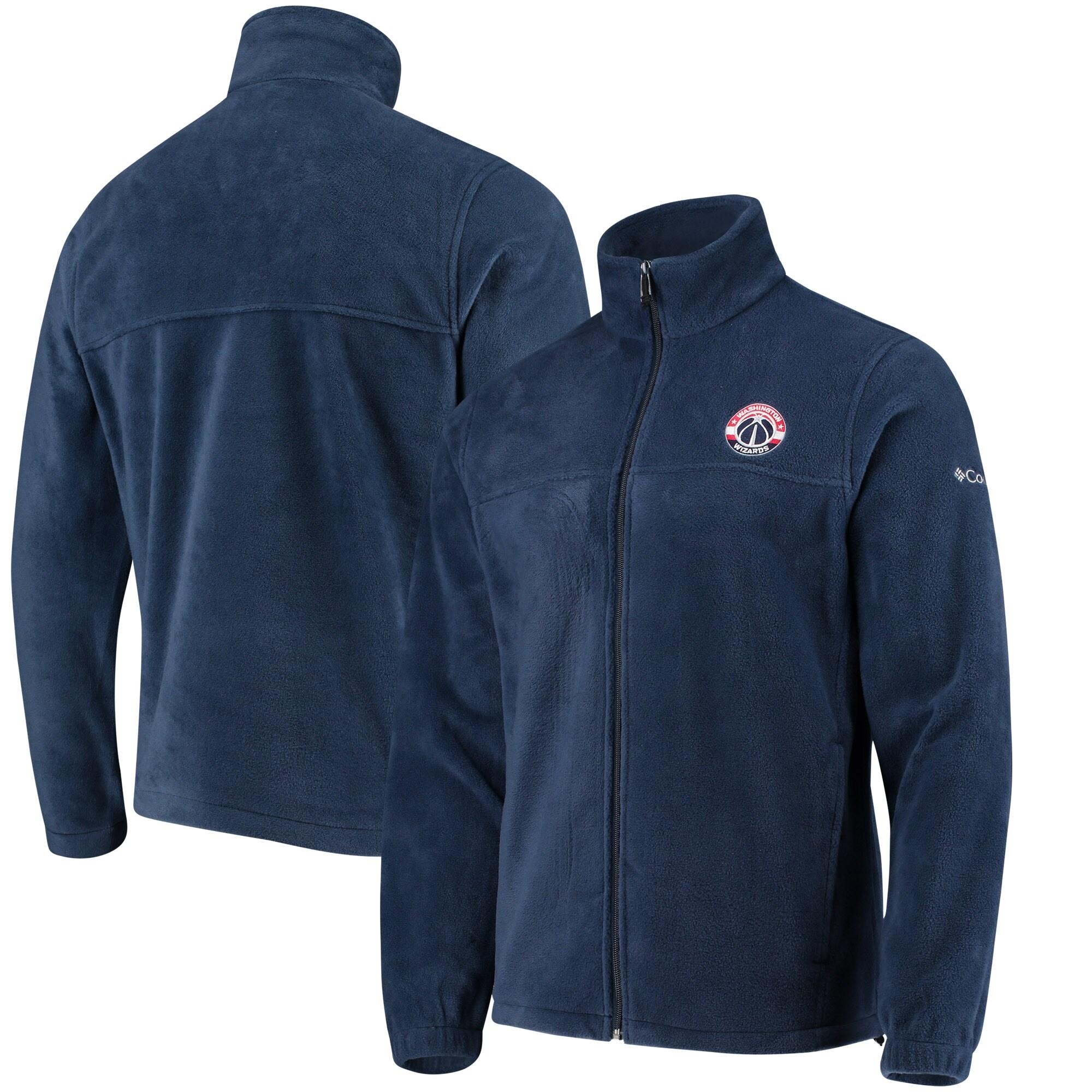 Washington Wizards Columbia Flanker Fleece Full-Zip Jacket - Navy