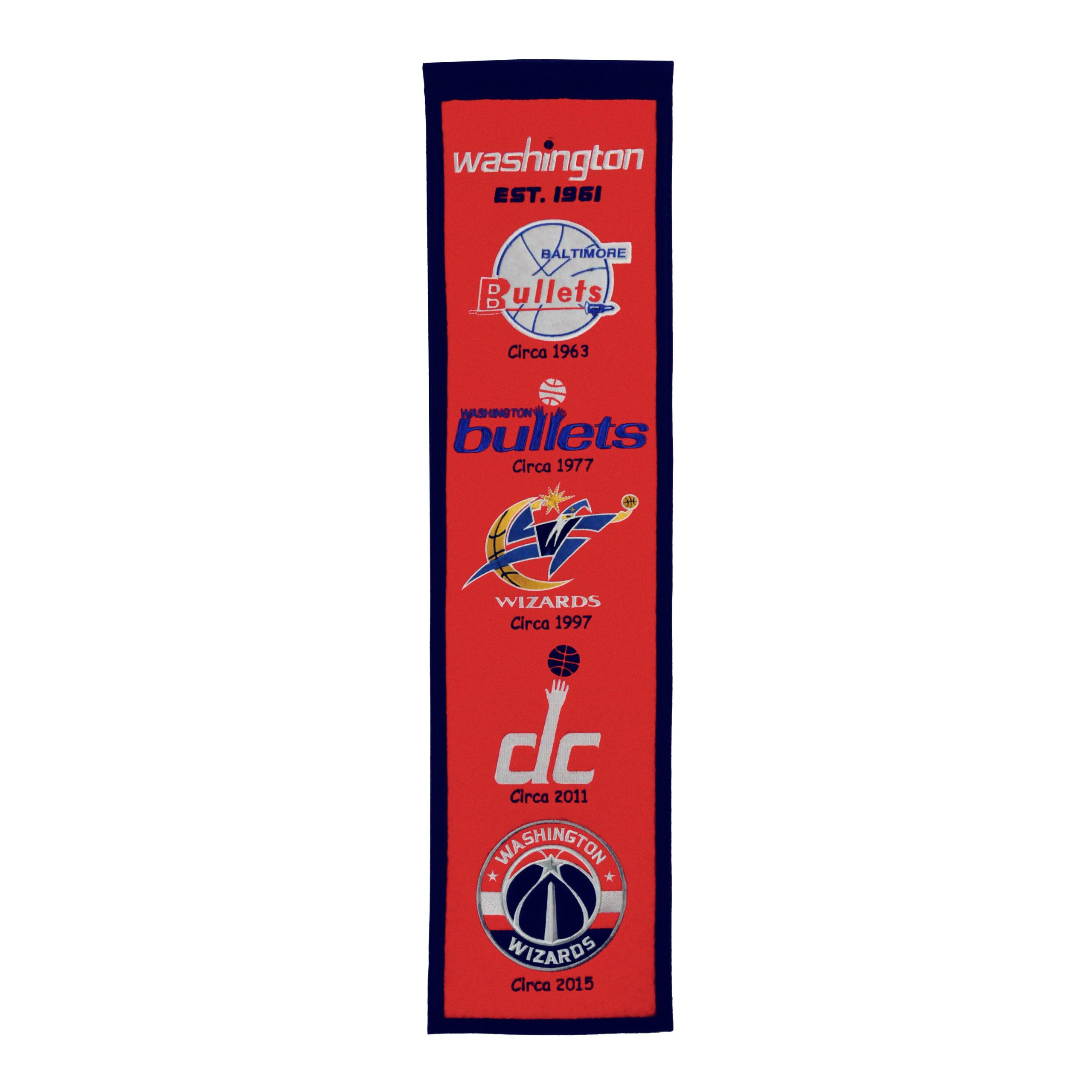"Washington Wizards 8"" x 32"" Premium Heritage Banner"