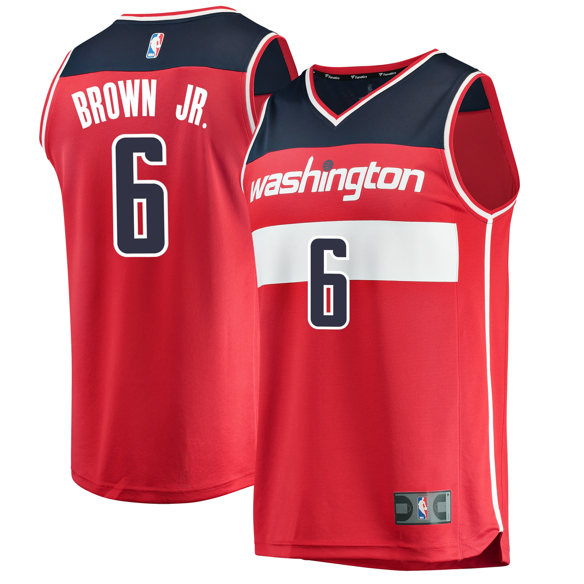 Troy Brown Washington Wizards Fanatics Branded Youth 2018 NBA Draft First Round Pick Fast Break Replica Jersey Red - Icon Edition