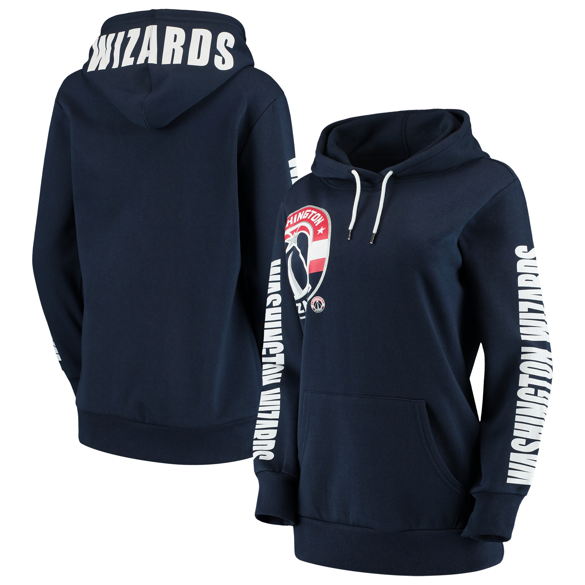 Washington Wizards G-III 4Her by Carl Banks Women's Overtime Pullover Hoodie - Navy