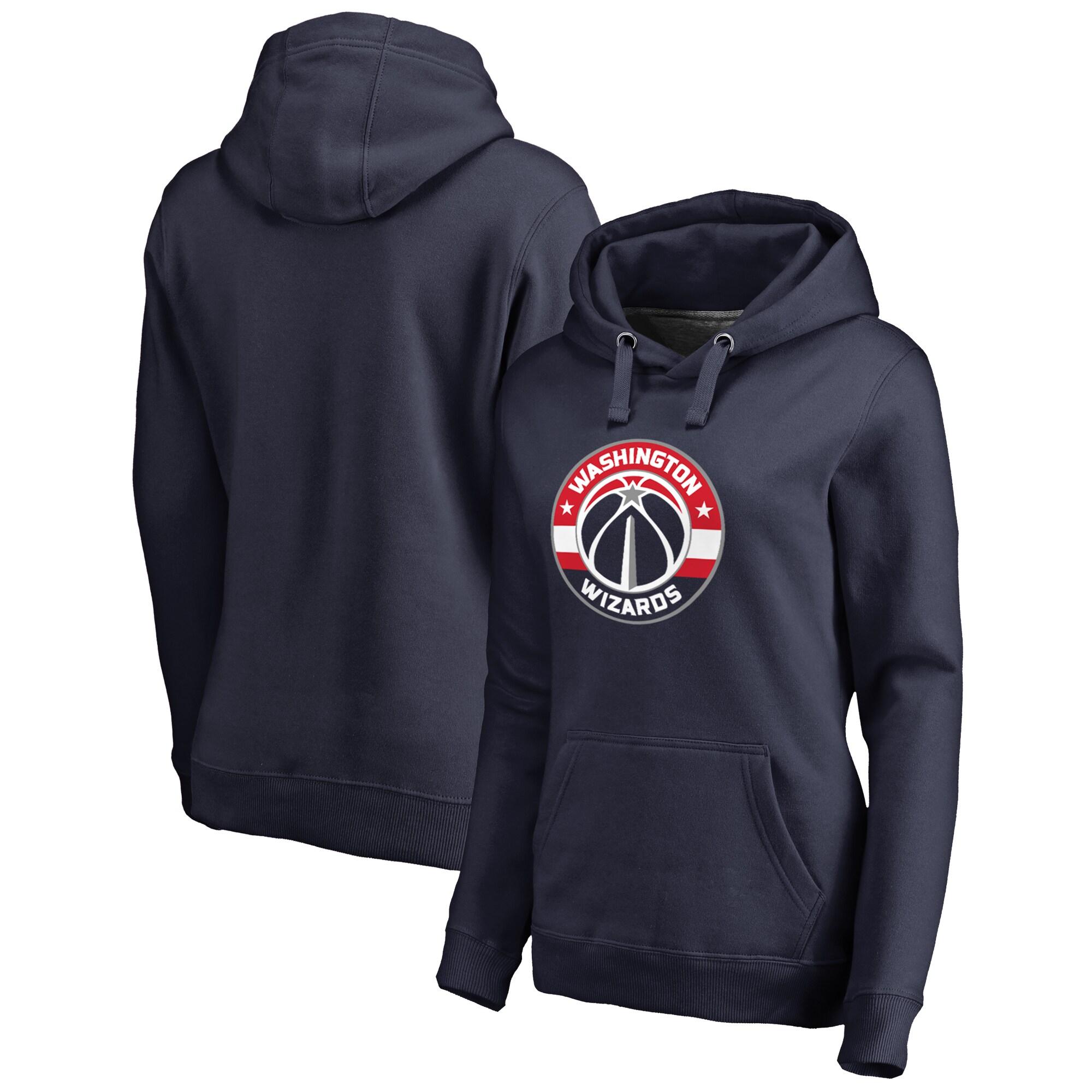 Washington Wizards Fanatics Branded Women's Plus Size Primary Logo Pullover Hoodie - Navy