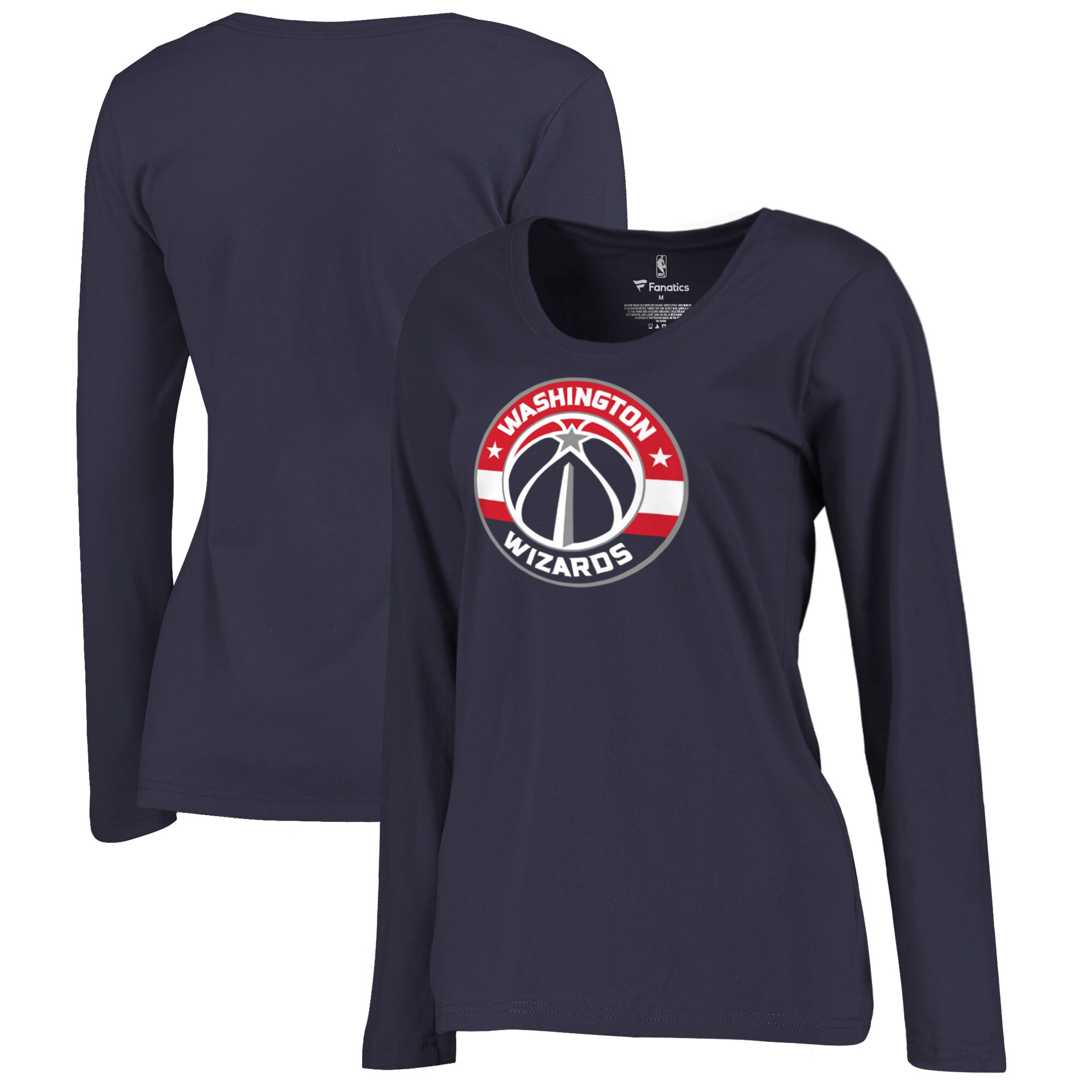 Washington Wizards Fanatics Branded Women's Plus Size Primary Logo Long Sleeve T-Shirt - Navy