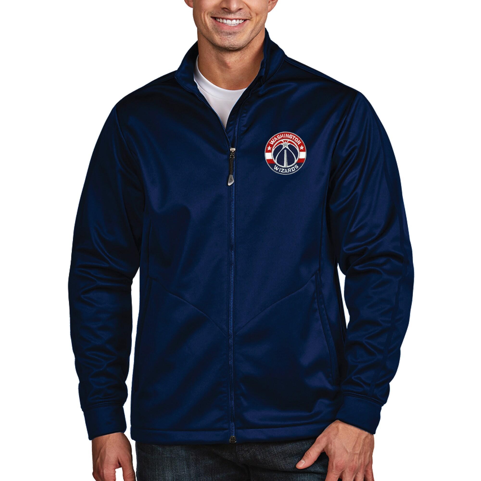 Washington Wizards Antigua Golf Full Zip Jacket - Navy
