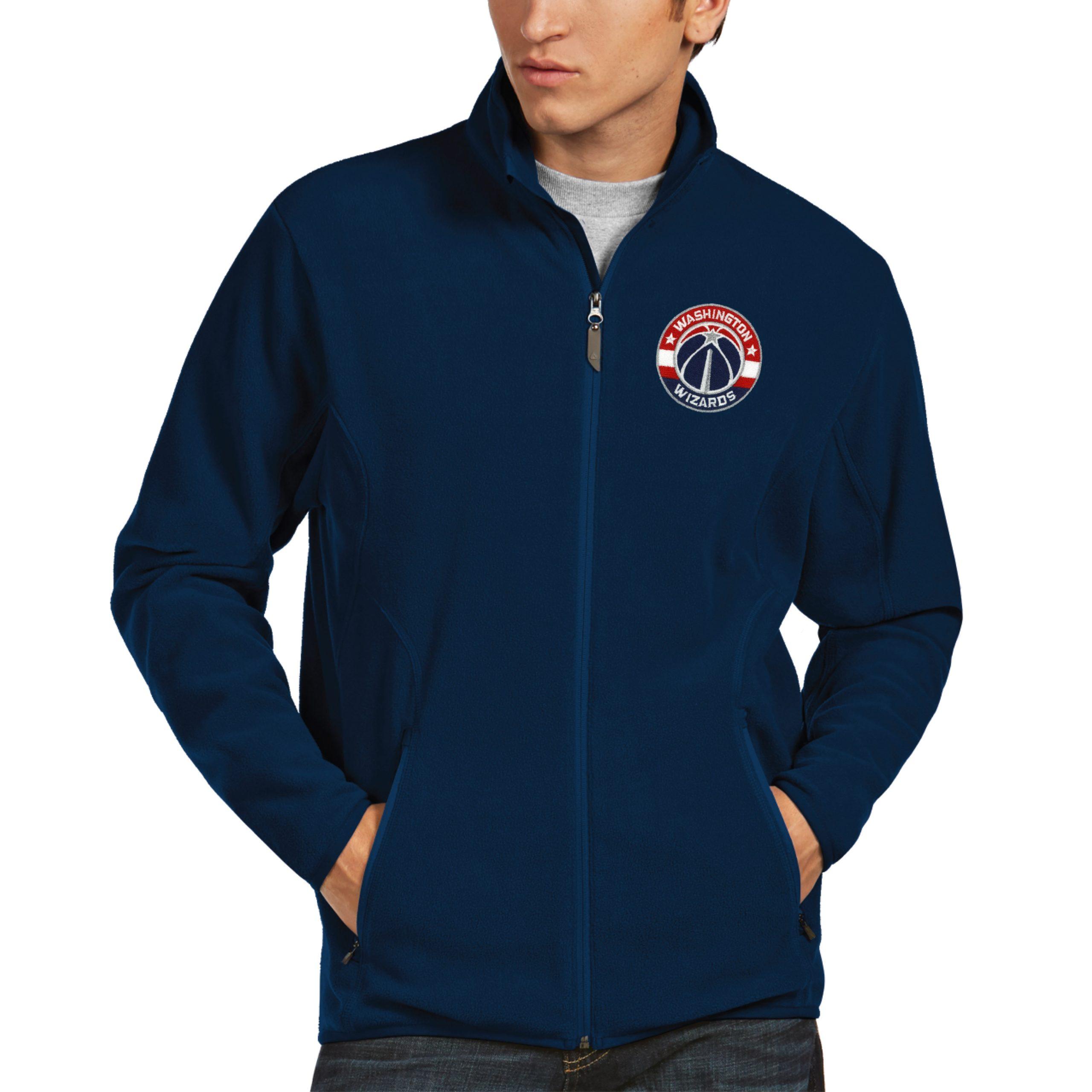 Washington Wizards Antigua Ice Full Zip Fleece Jacket - Navy
