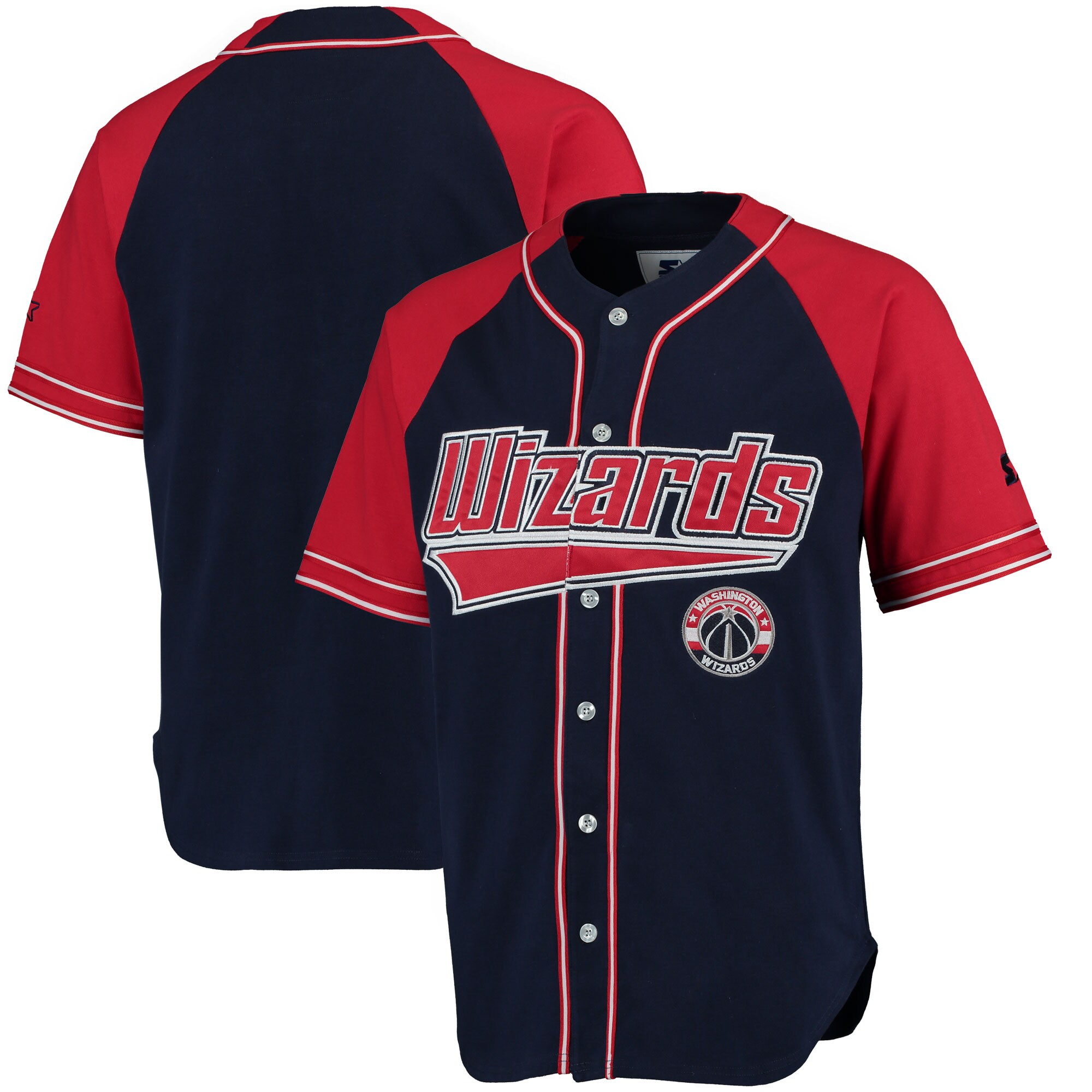 Washington Wizards Starter Baseball Jersey - Red/Red