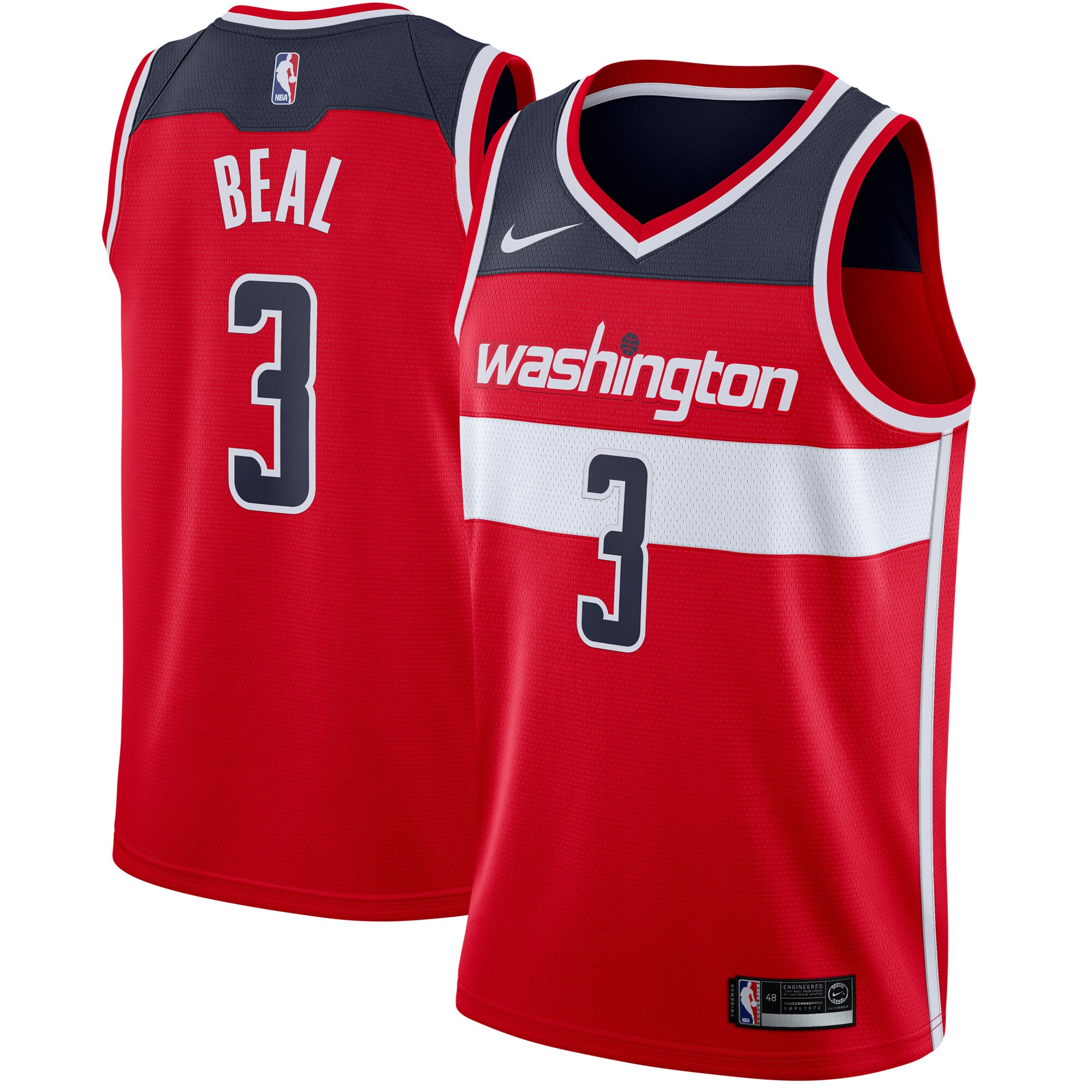 Bradley Beal Washington Wizards Nike Swingman Jersey Red - Icon Edition