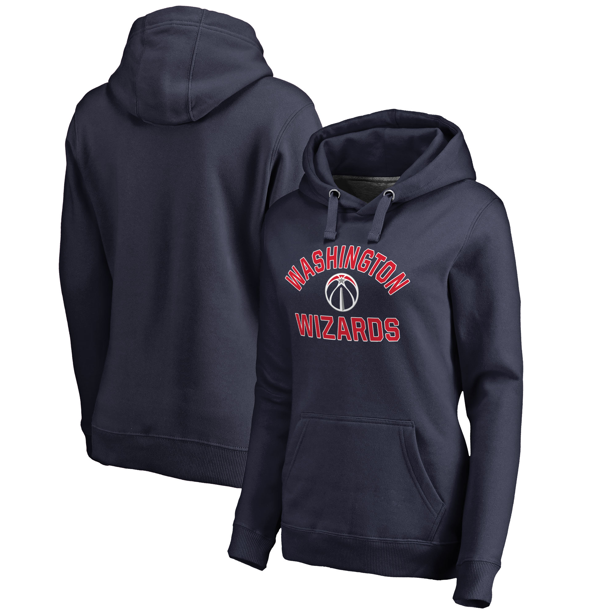 Washington Wizards Fanatics Branded Women's Plus Sizes Overtime Pullover Hoodie - Navy