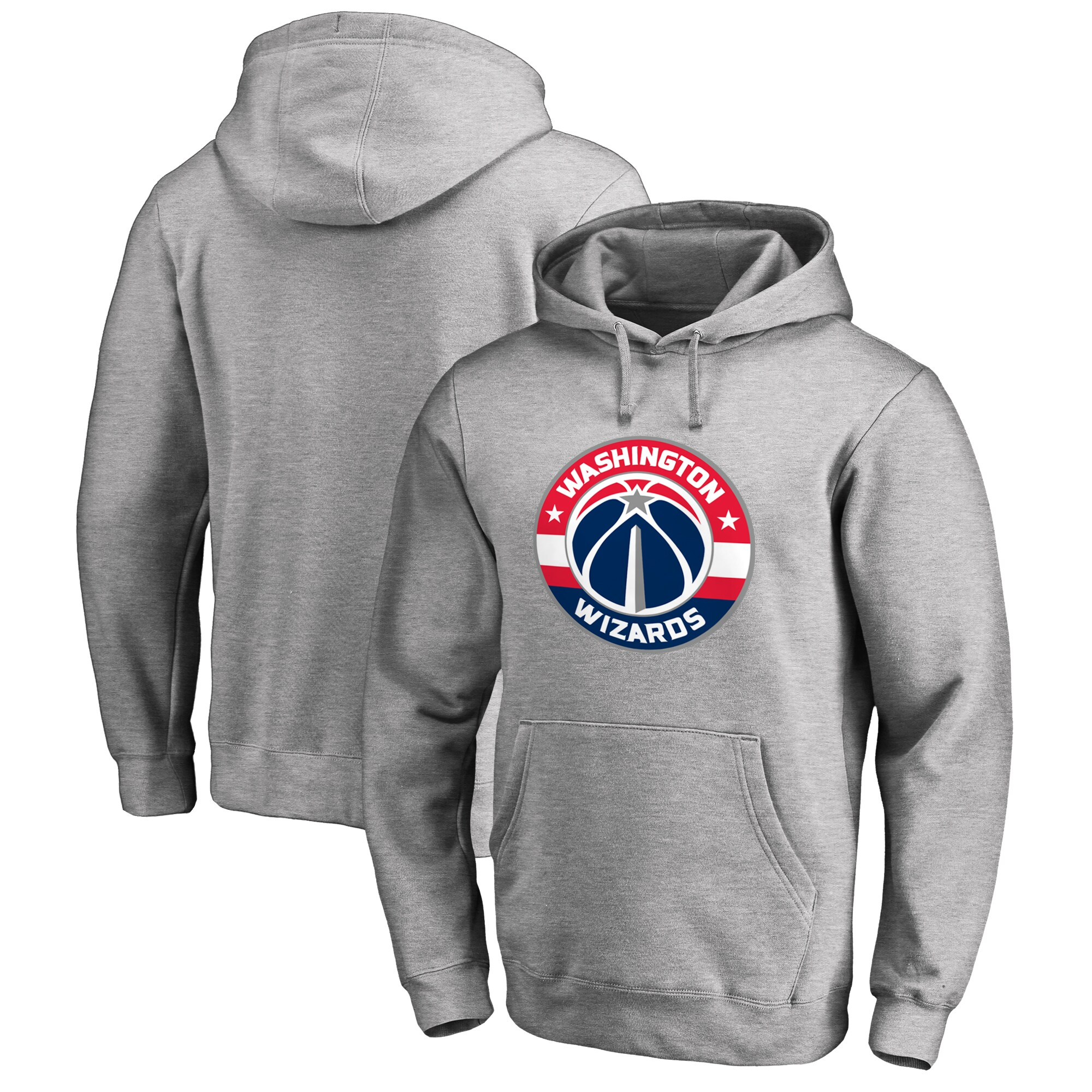 Washington Wizards Fanatics Branded Big & Tall Primary Logo Pullover Hoodie - Ash