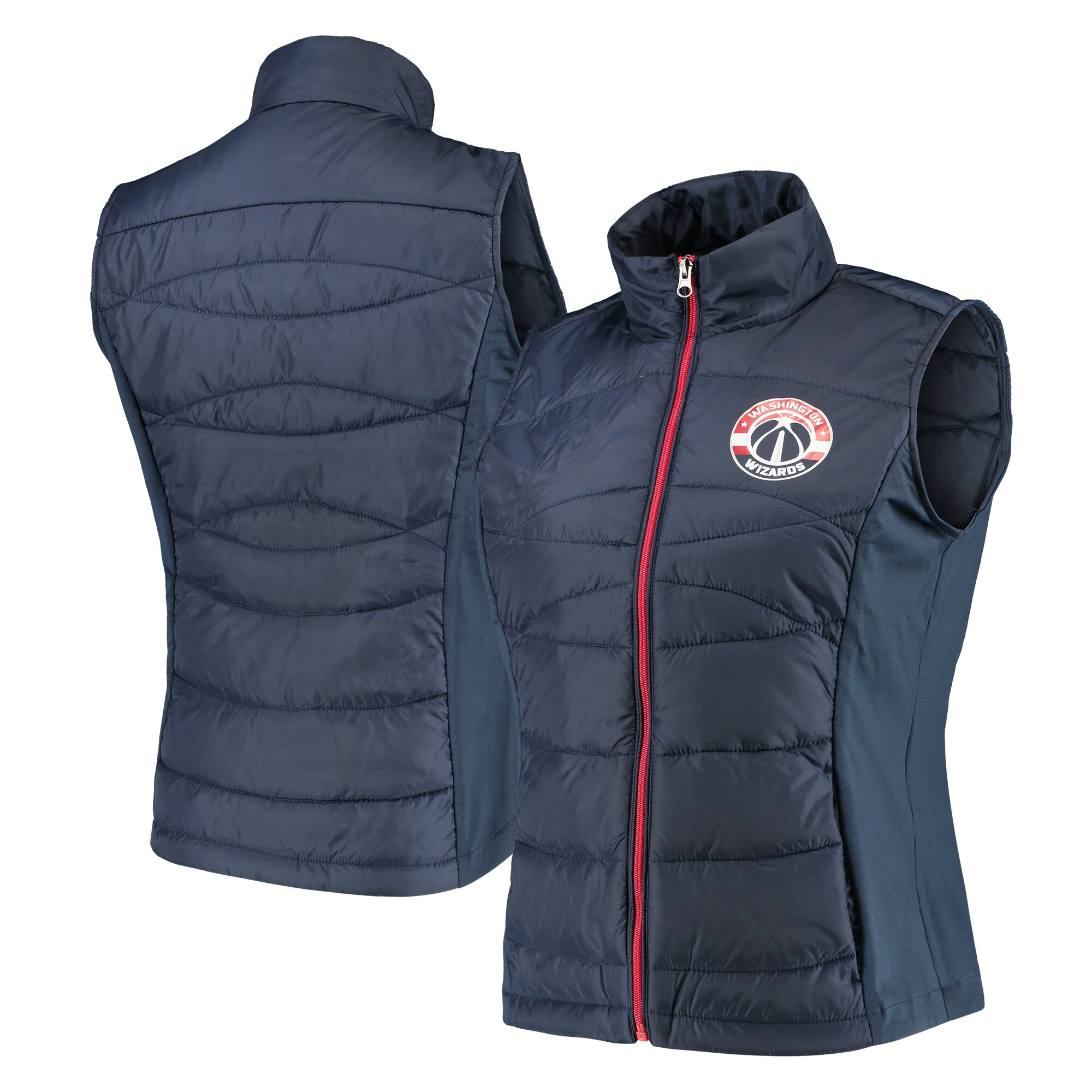 Washington Wizards G-III 4Her by Carl Banks Women's Wing Back Lightweight Polyfill Vest - Navy