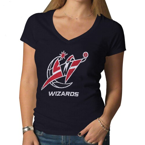 Washington Wizards '47 Brand Women's Hardwood Classics Scrum V-Neck T-Shirt - Navy Blue