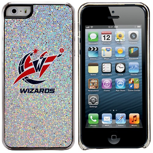 Washington Wizards iPhone 5/5s Bling Thinshield Snap-On Case - Silver