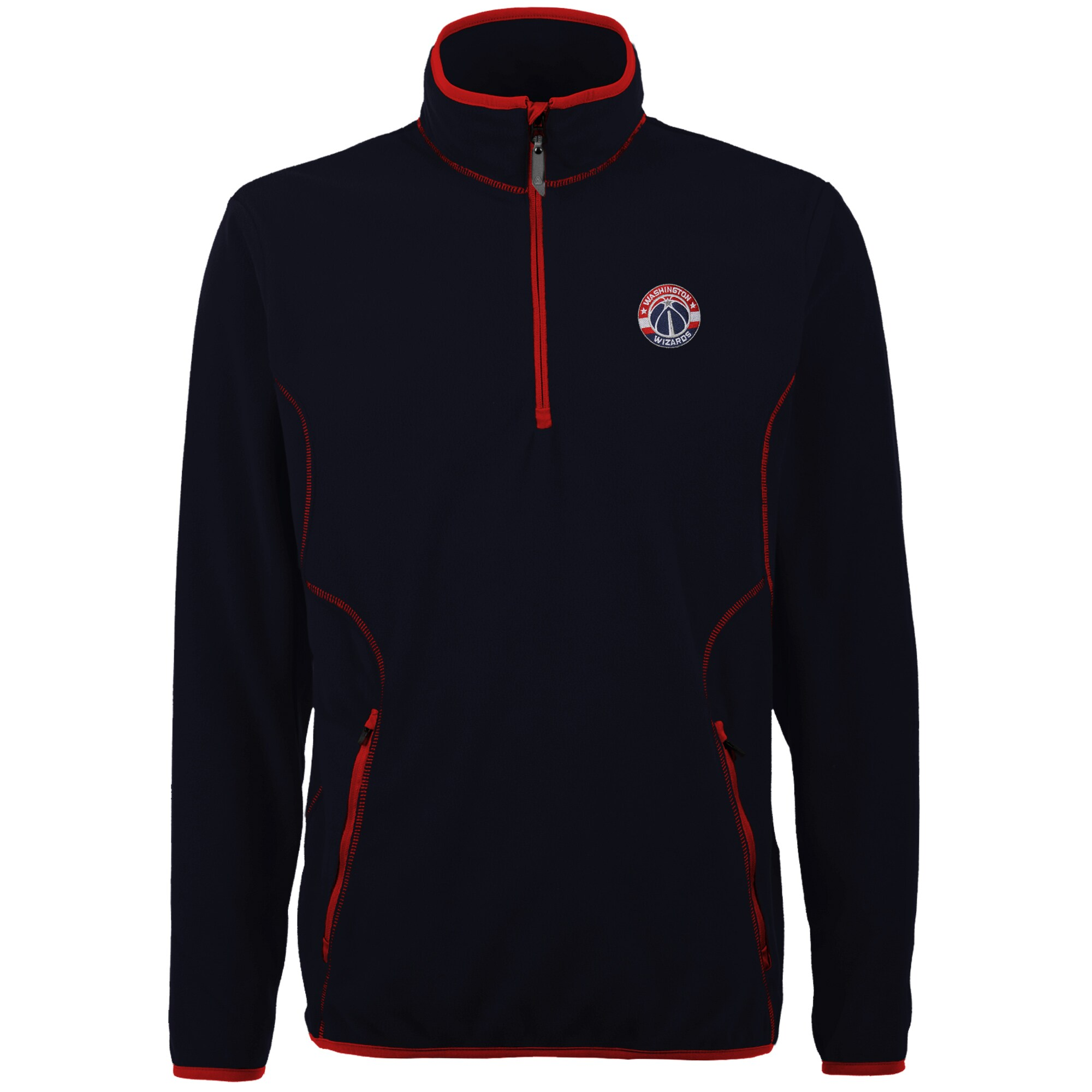Washington Wizards Antigua Ice Quarter Zip Lightweight Pullover Jacket - Navy