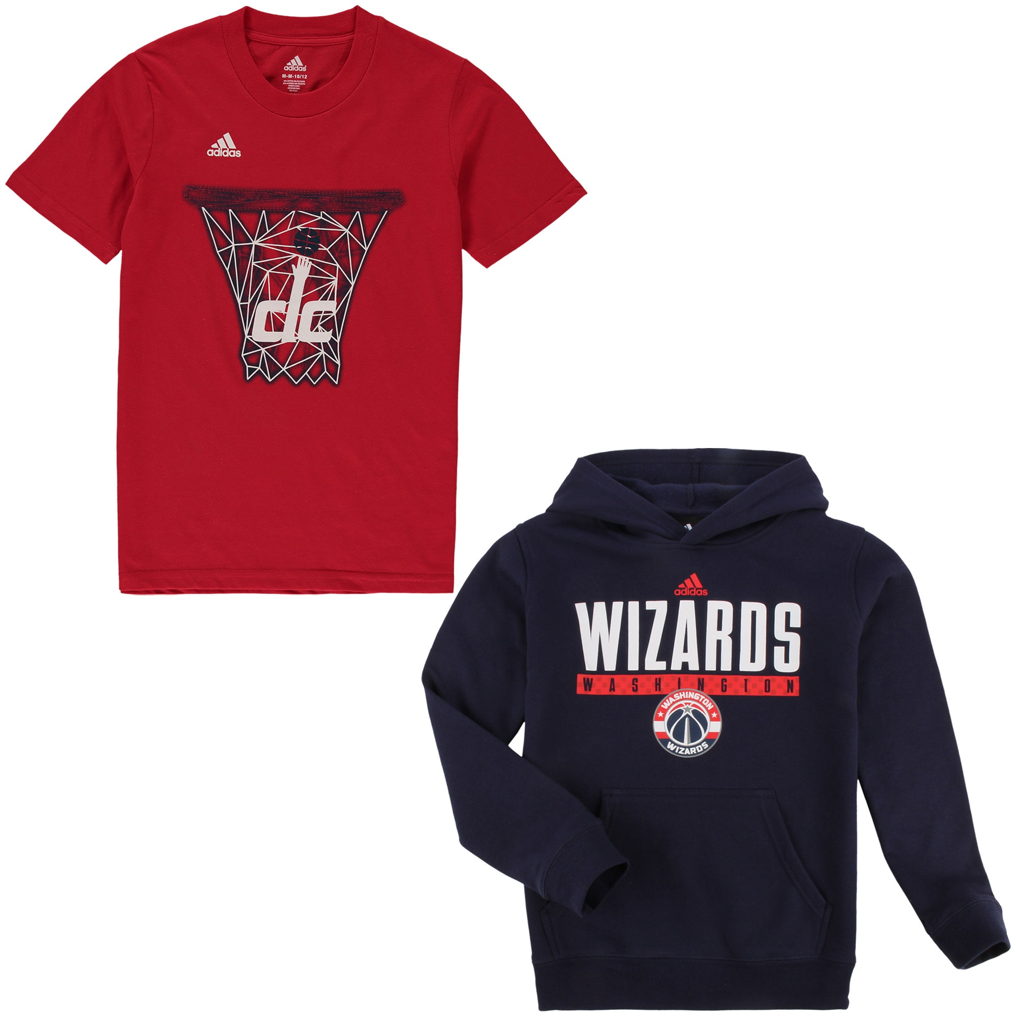 Washington Wizards adidas Youth Hoodie and T-Shirt Combo - Red/Navy
