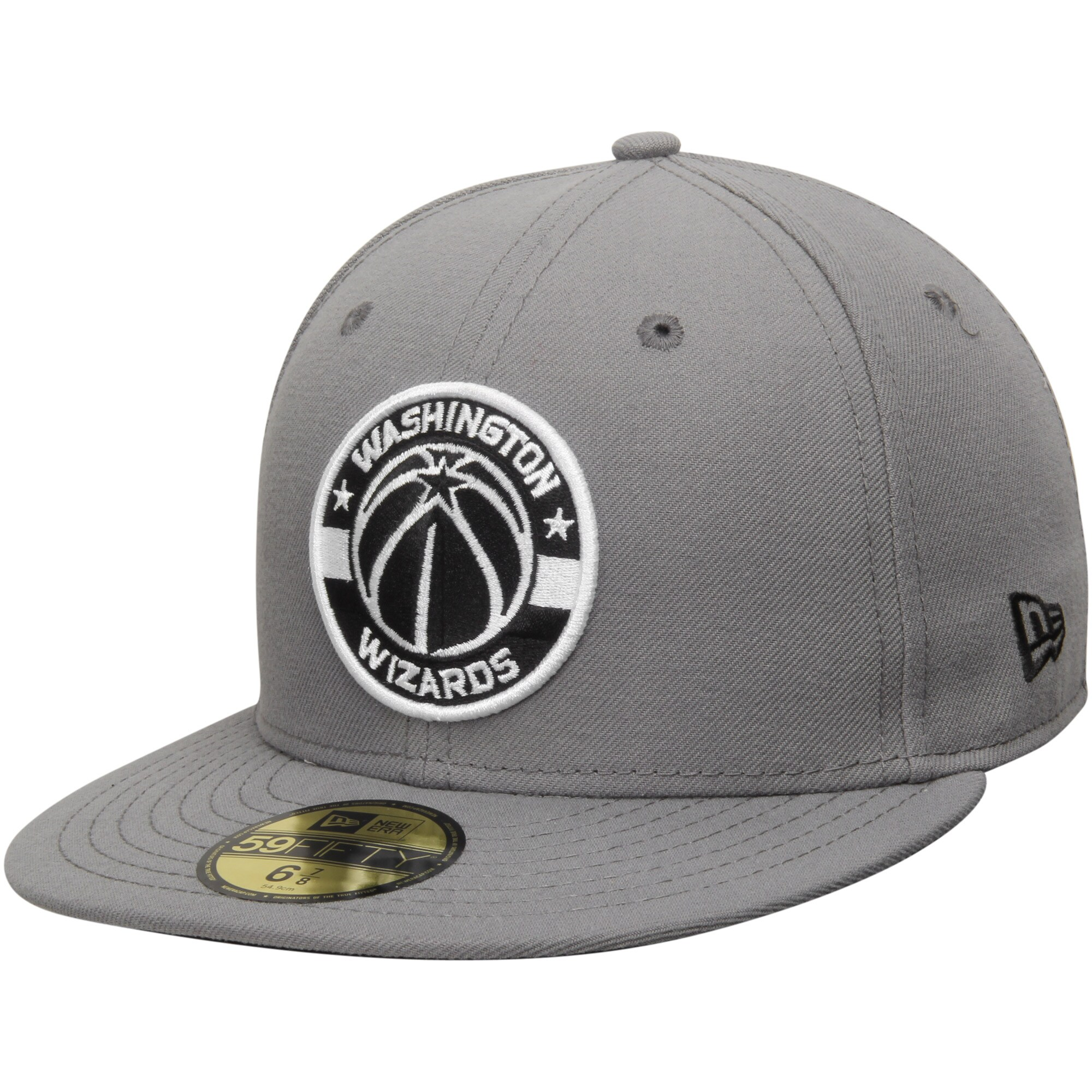 Washington Wizards New Era Current Logo 59FIFTY Fitted Hat - Gray