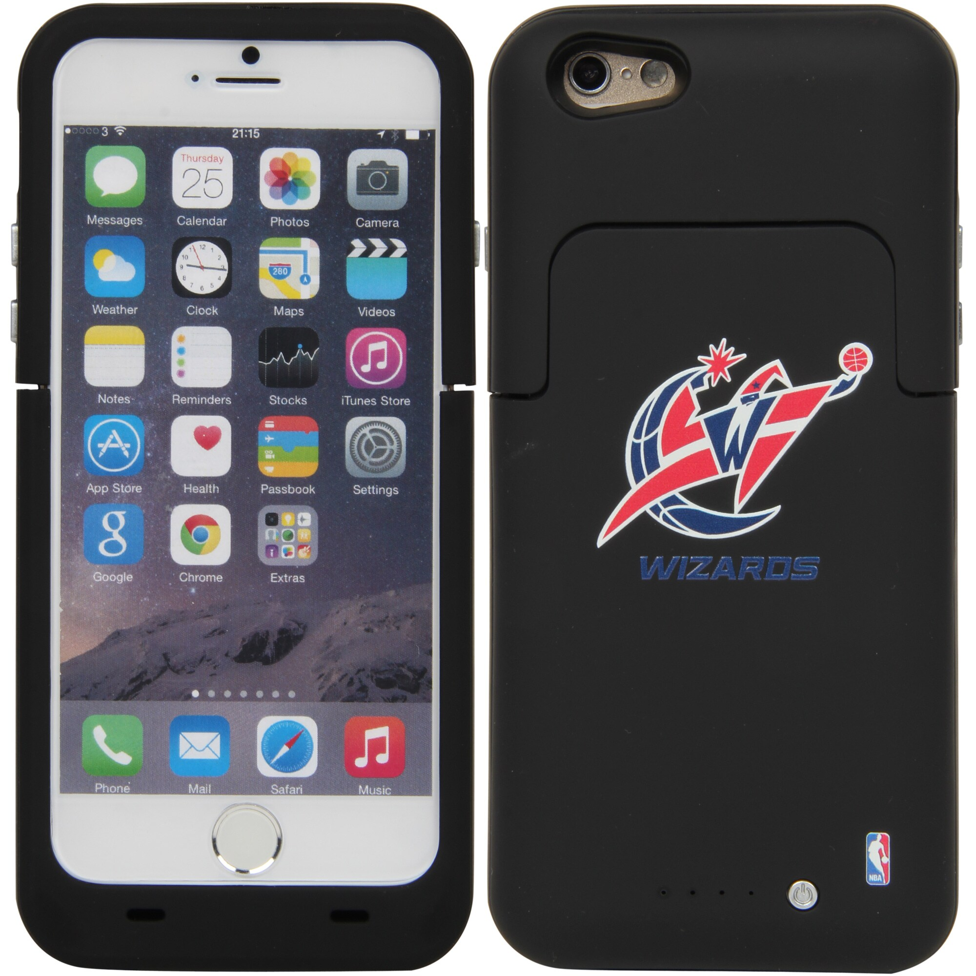 Washington Wizards iPhone 6/6S Boost Charging Case - Black