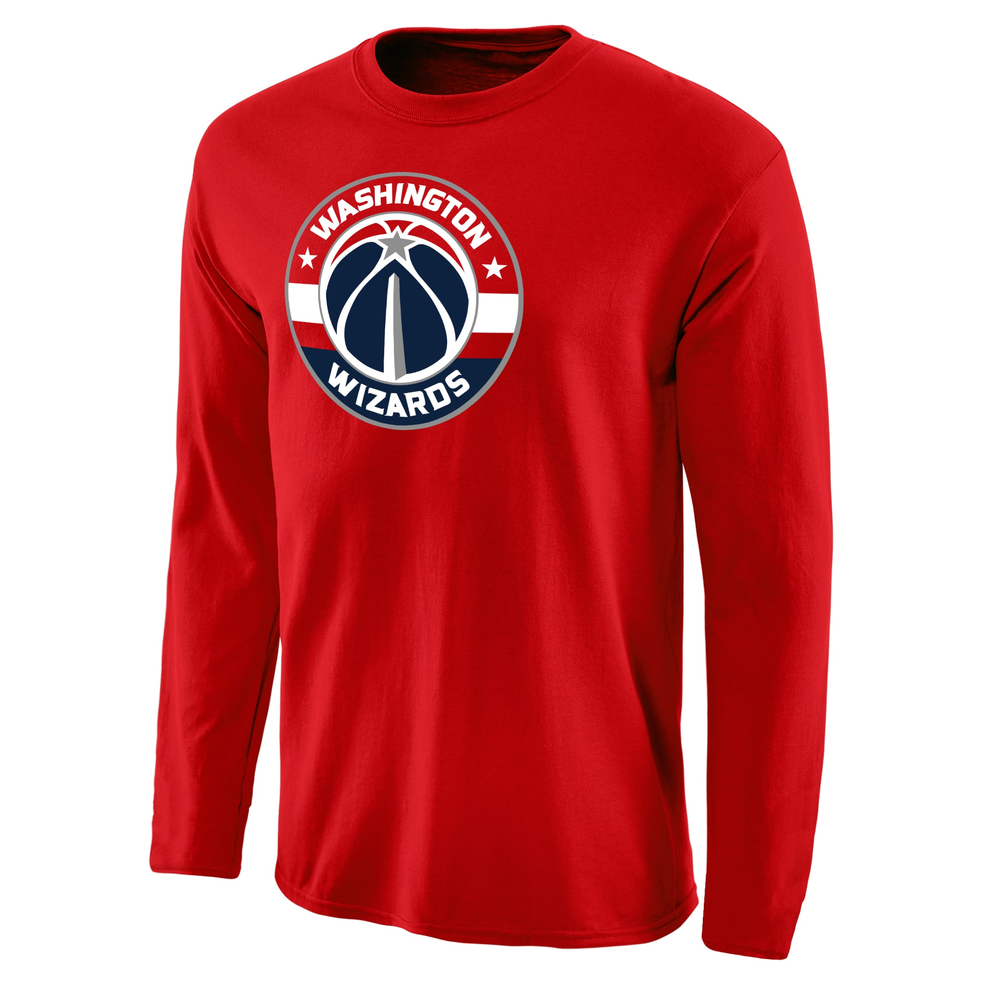 Washington Wizards Primary Logo Long Sleeve T-Shirt - Red
