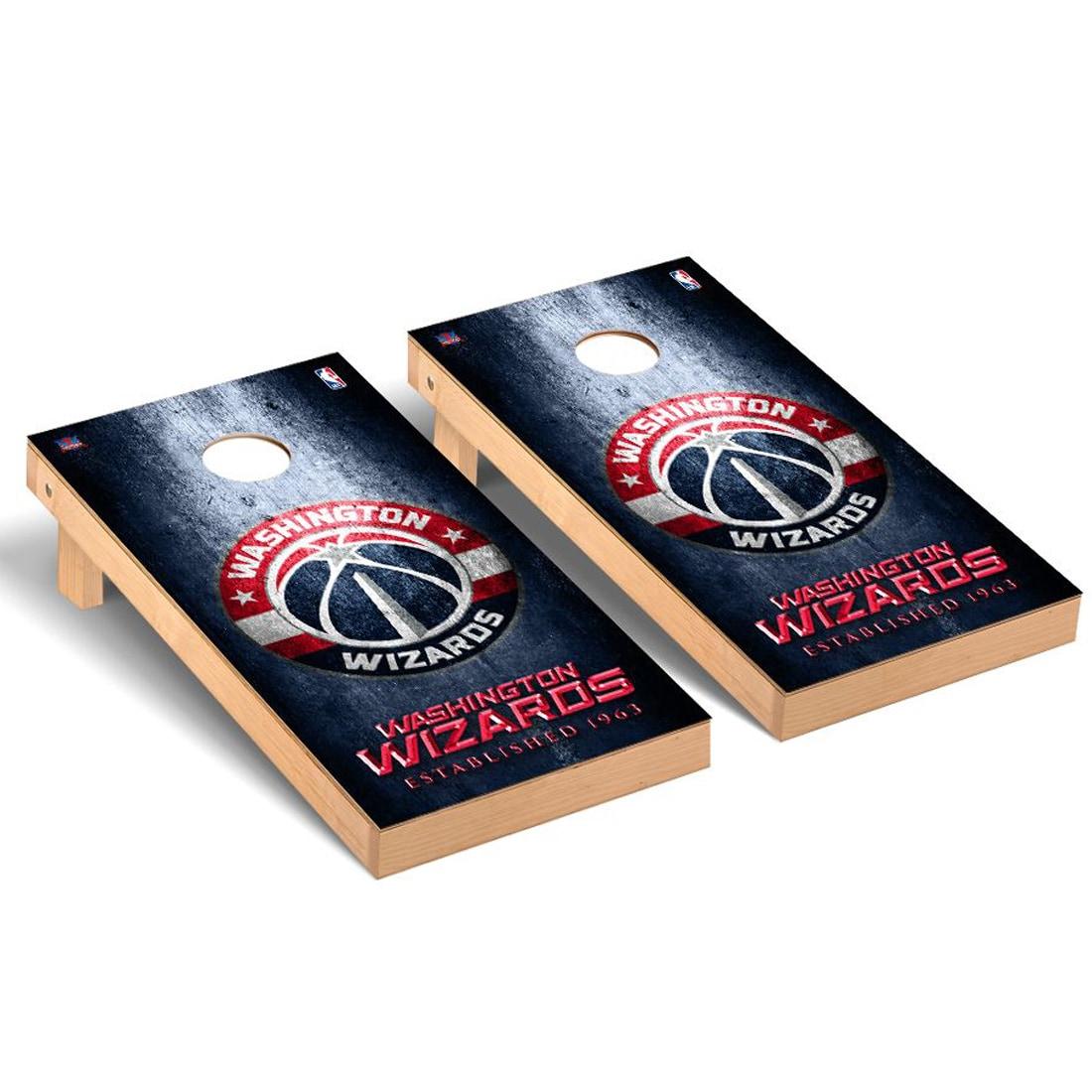 Washington Wizards 2' x 4' Metal Museum Cornhole Board Tailgate Toss Set