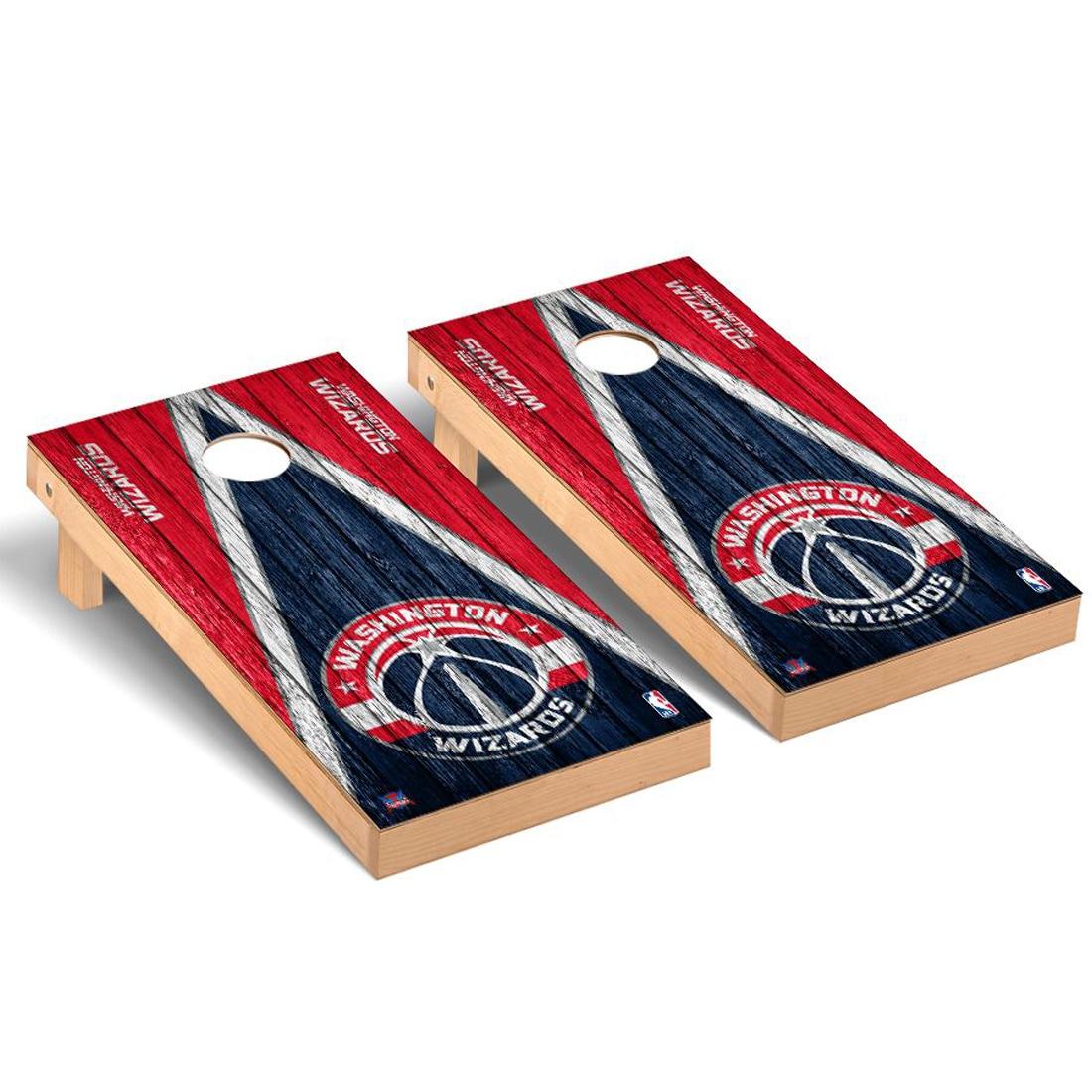 Washington Wizards 2' x 4' Weathered Museum Cornhole Board Tailgate Toss Set