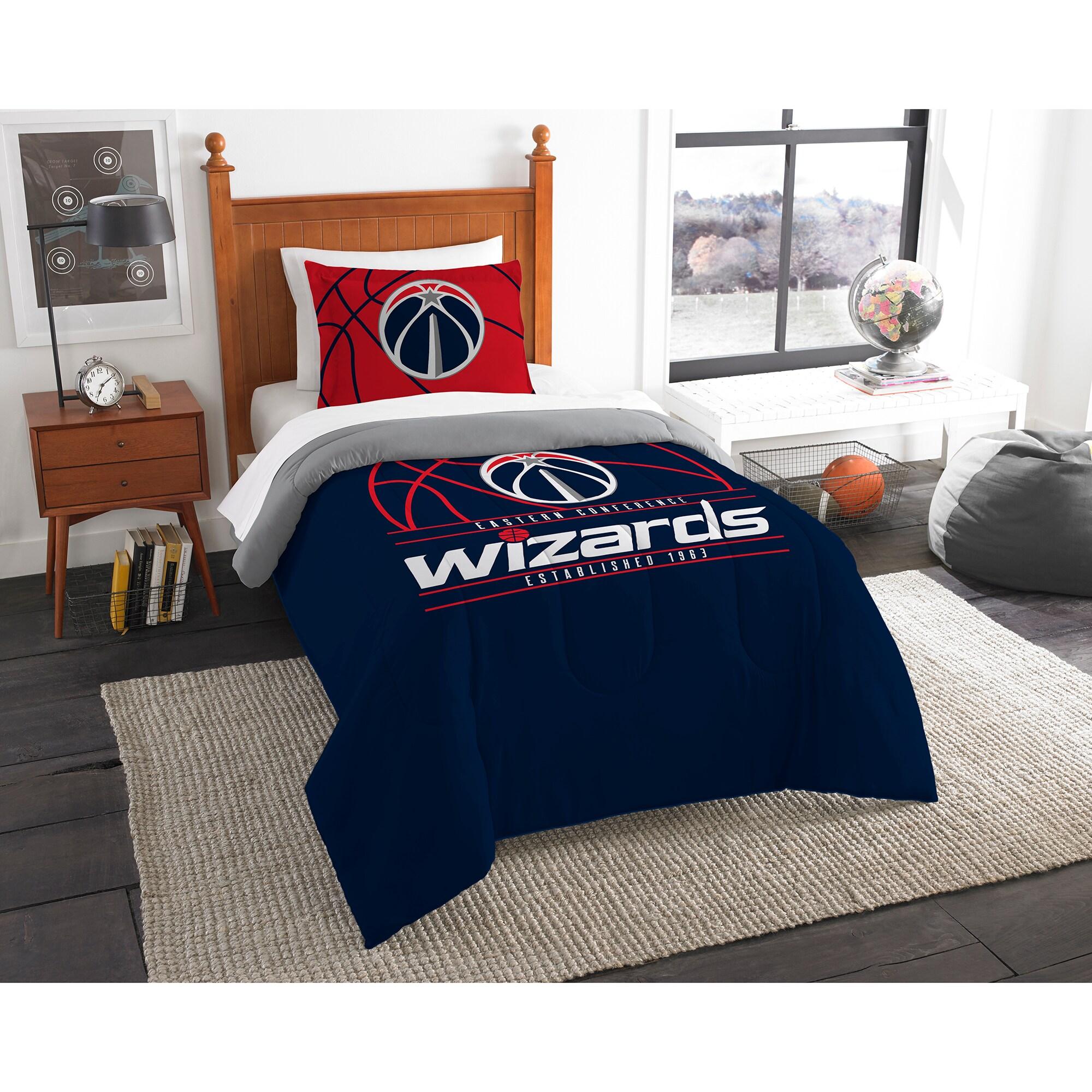 Washington Wizards The Northwest Company Reverse Slam Twin Comforter Set