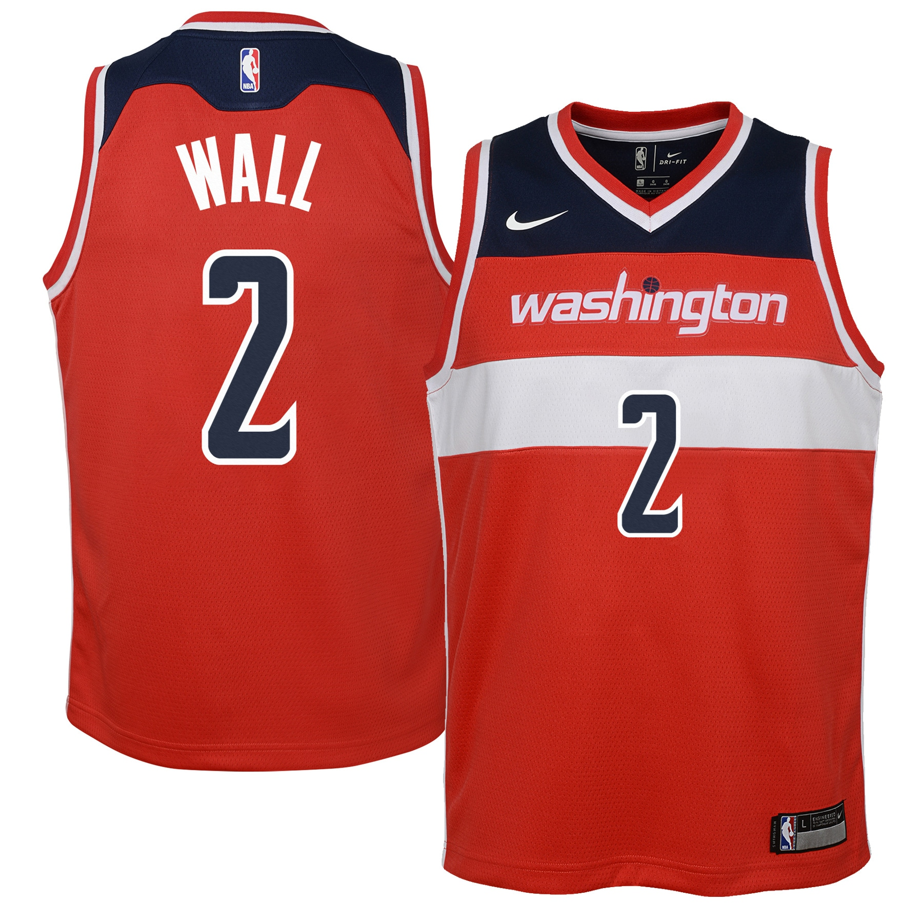 John Wall Washington Wizards Nike Youth Swingman Jersey Red - Icon Edition