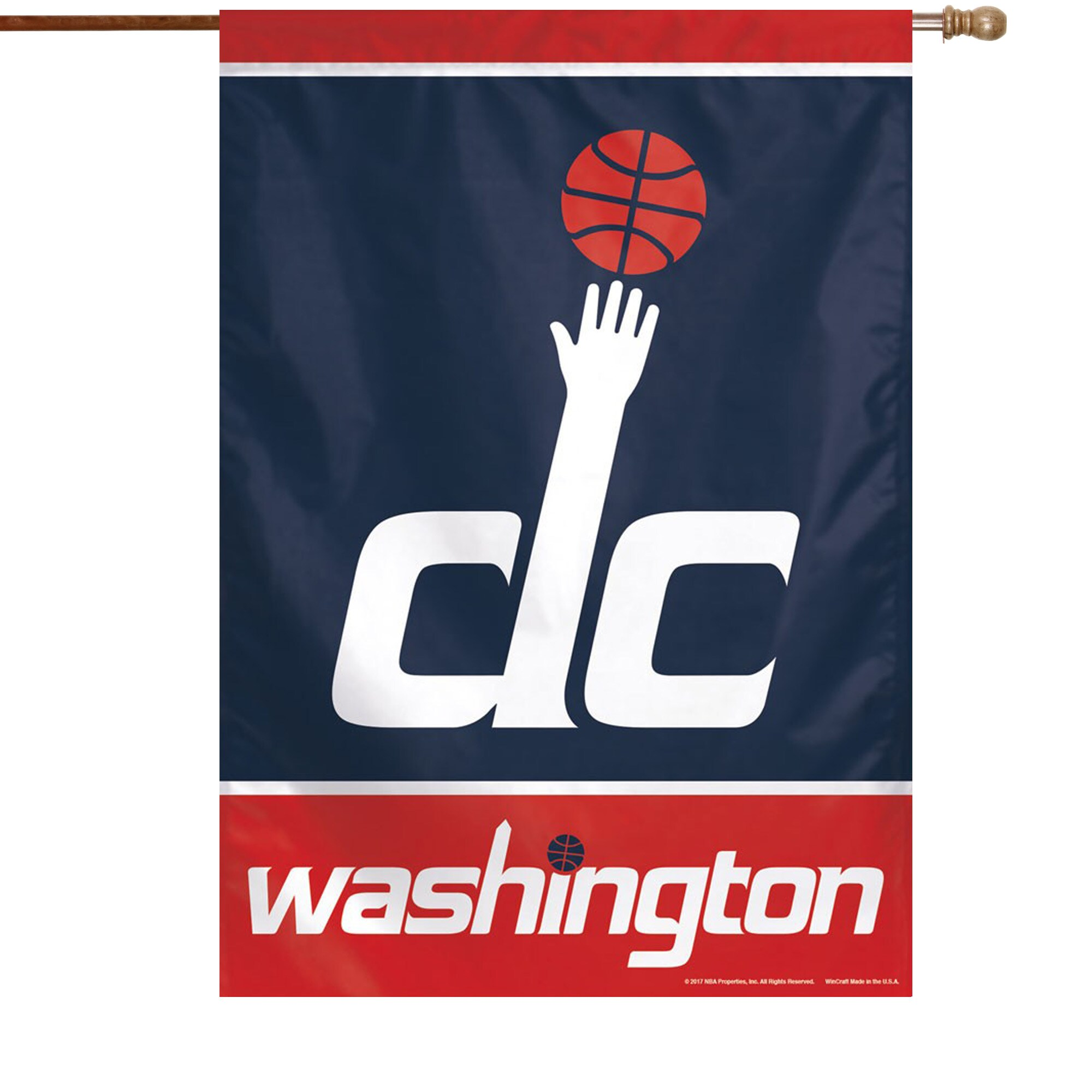 "Washington Wizards WinCraft 28"" x 40"" Primary Logo Single-Sided Vertical Banner"