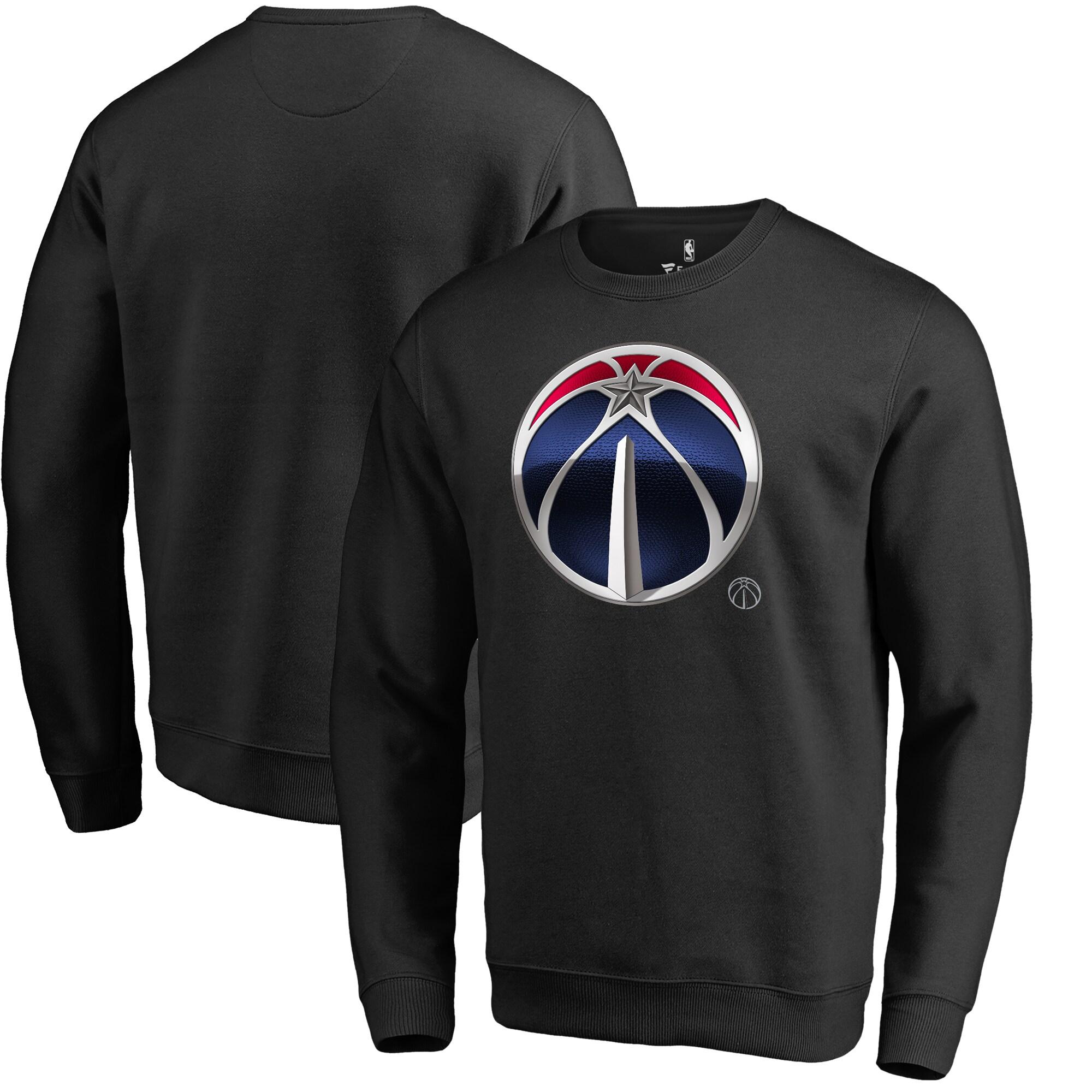 Washington Wizards Fanatics Branded Midnight Mascot Pullover Sweatshirt - Black