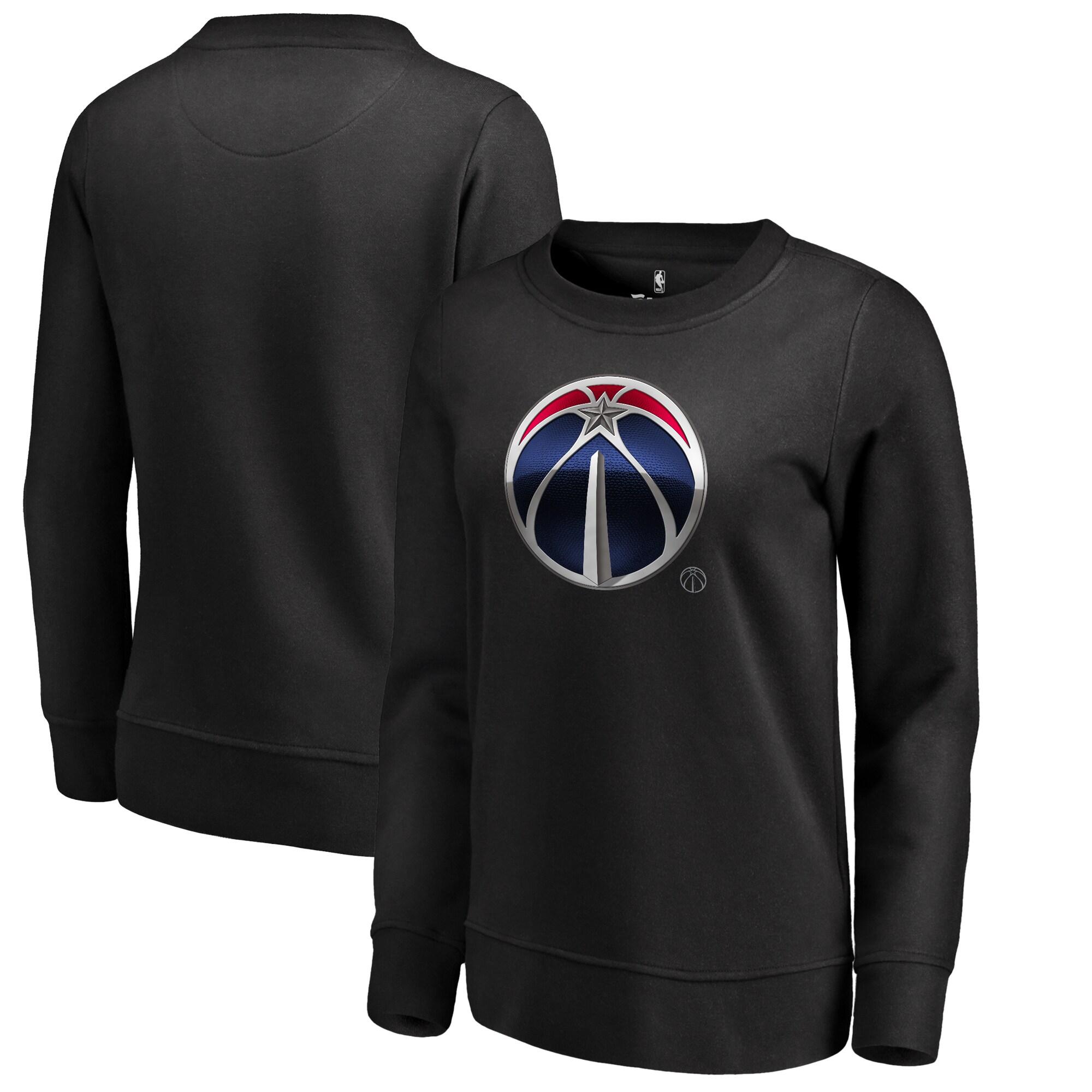 Washington Wizards Fanatics Branded Women's Midnight Mascot Pullover Sweatshirt - Black