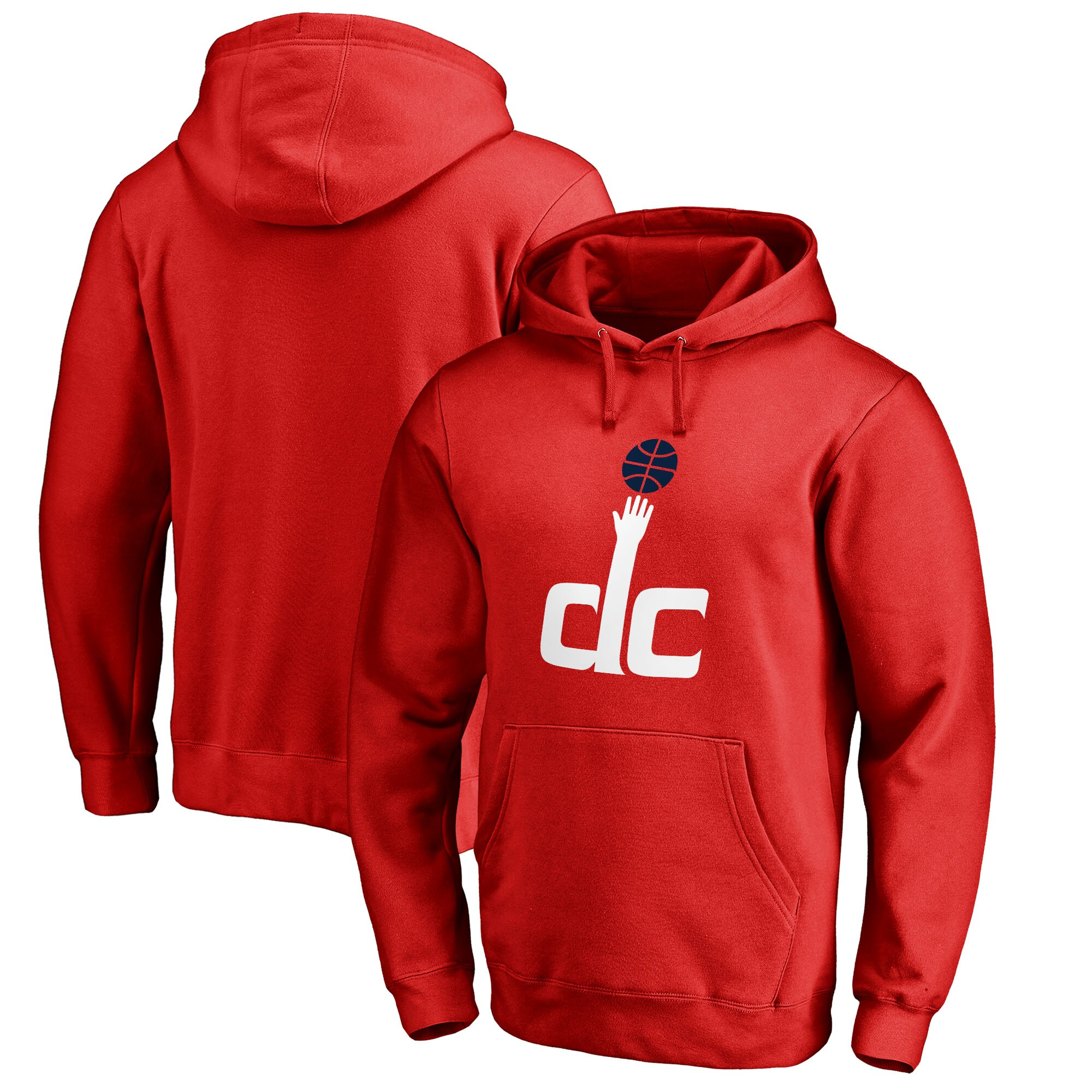 Washington Wizards Fanatics Branded Alternate Logo Pullover Hoodie - Red