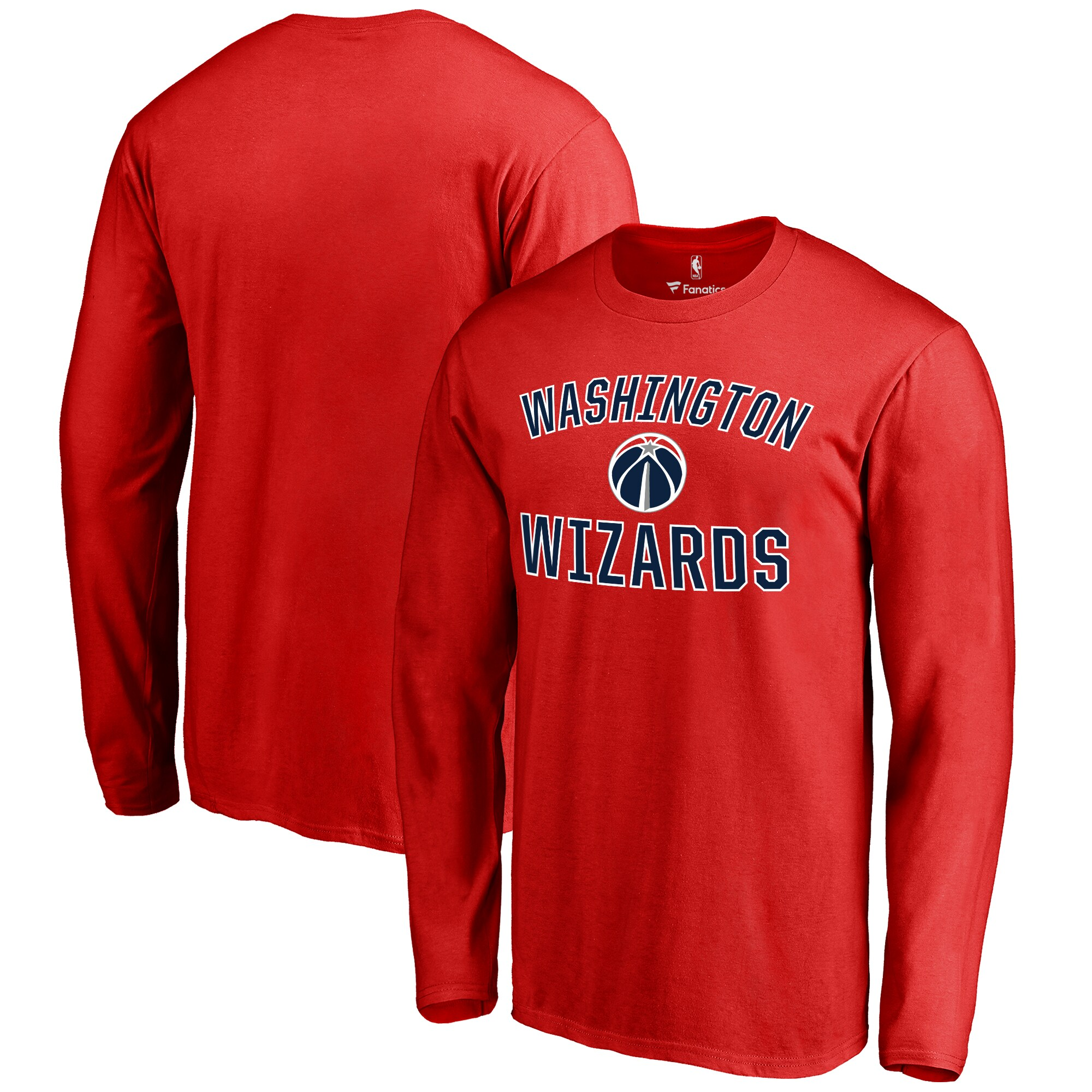Washington Wizards Victory Arch Long Sleeve T-Shirt - Red