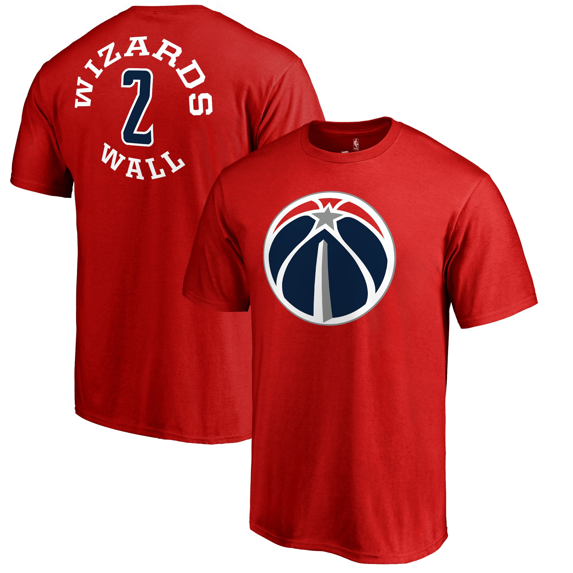John Wall Washington Wizards Fanatics Branded Round About Name & Number T-Shirt - Red