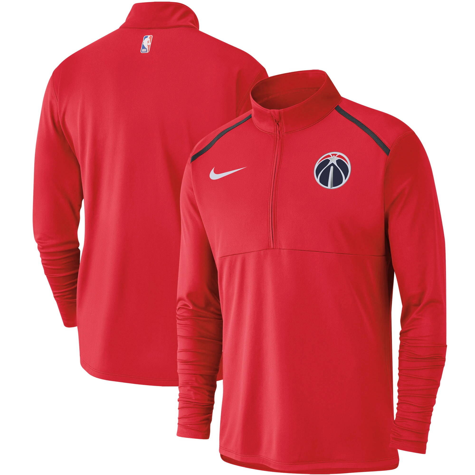 Washington Wizards Nike Element Performance Half-Zip Pullover Jacket - Red