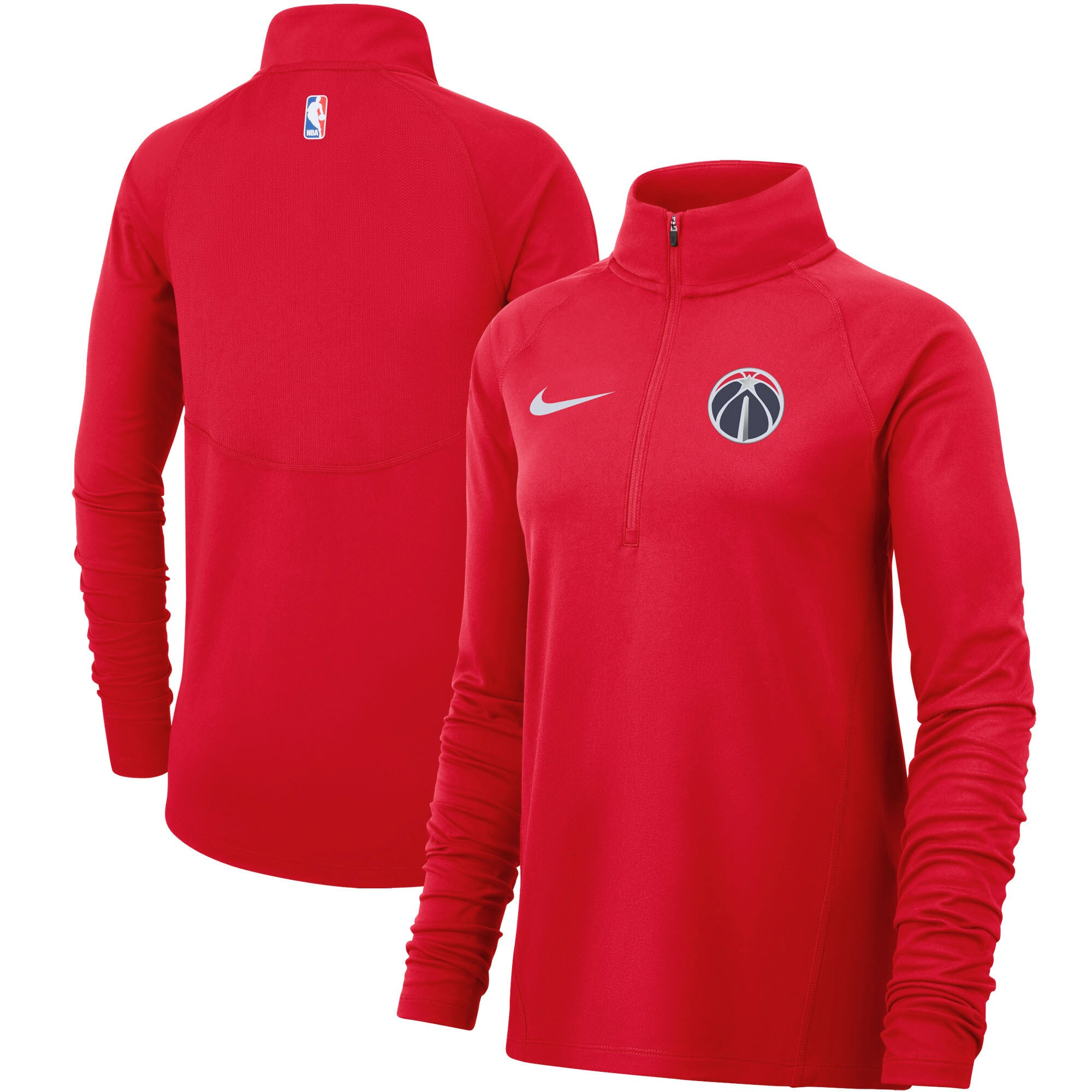 Washington Wizards Nike Women's Element Performance Raglan Sleeve Half-Zip Pullover Jacket - Red