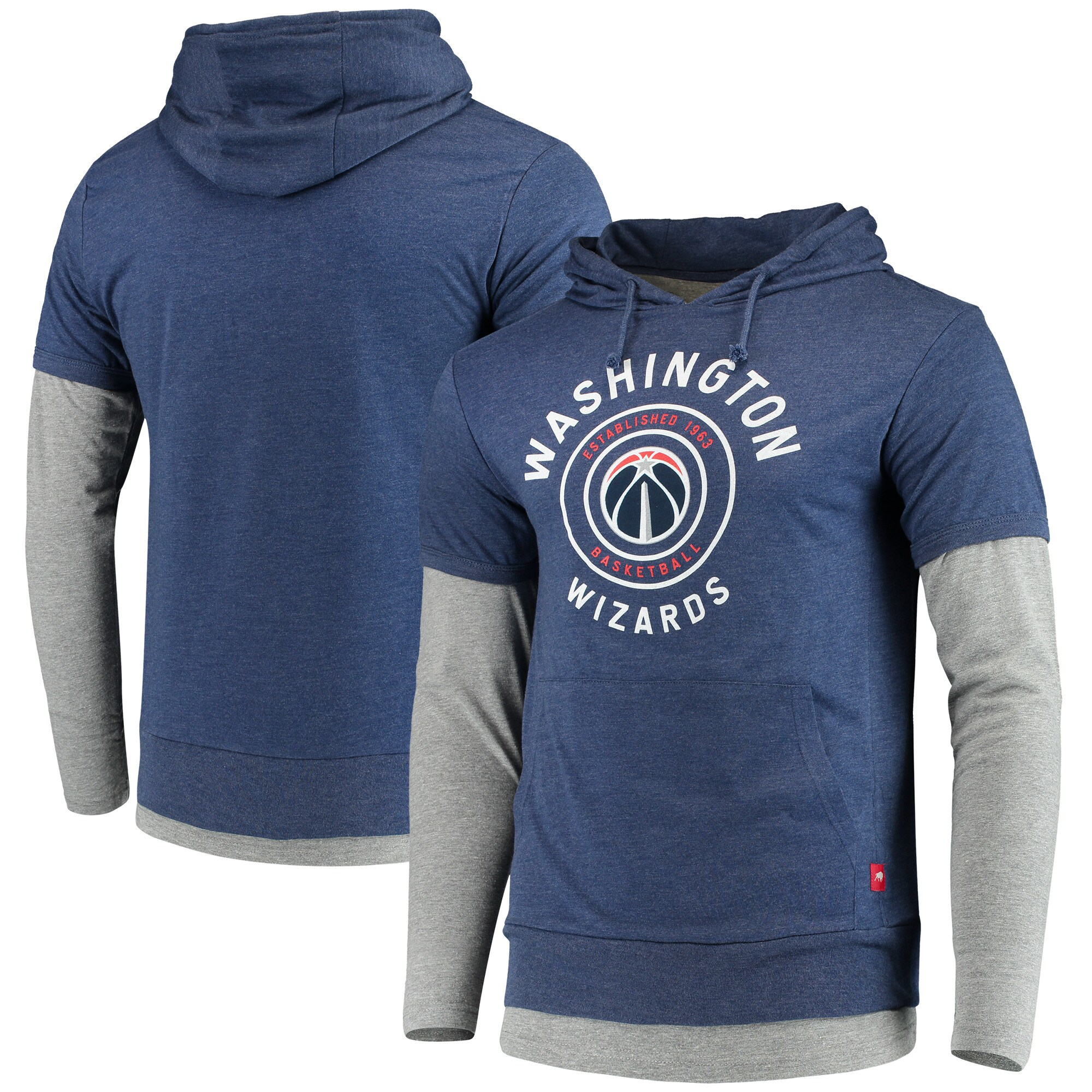 Washington Wizards Sportiqe Miller Two-Tone Tri-Blend Pullover Hoodie - Navy