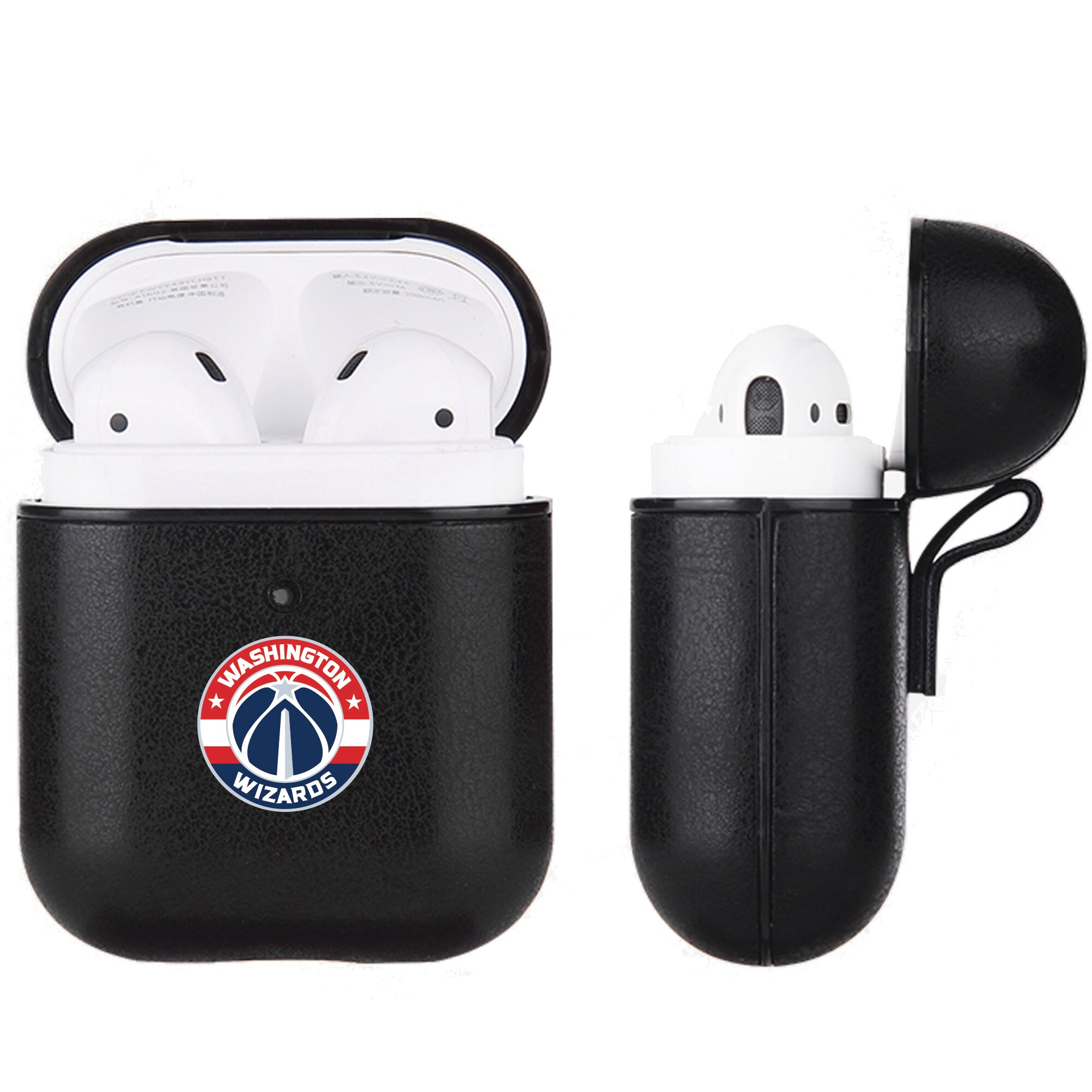 Washington Wizards Air Pods Black Leatherette Case