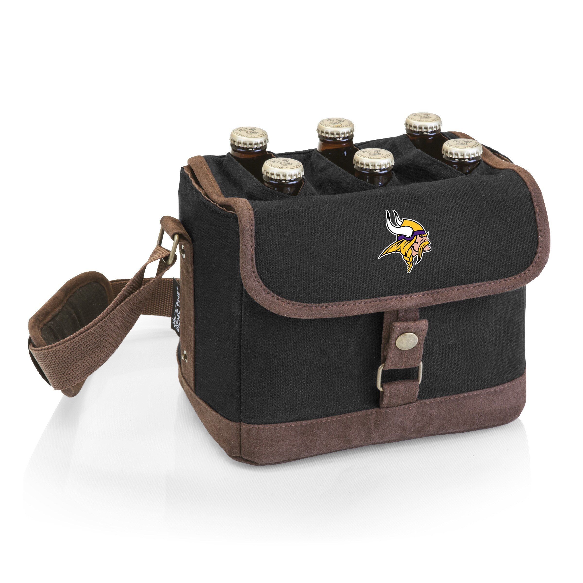 Minnesota Vikings Beer Caddy Cooler Tote with Opener