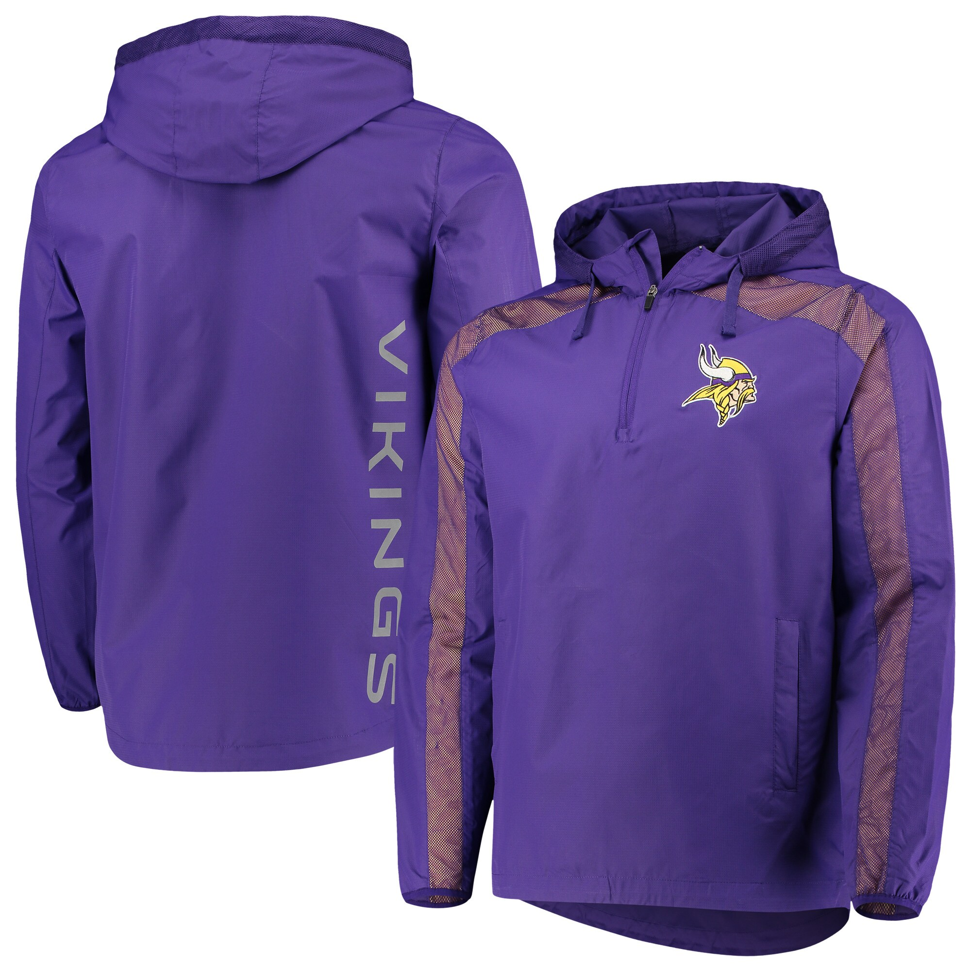 Minnesota Vikings G-III Sports by Carl Banks Lineup Hooded Half-Zip Jacket - Purple