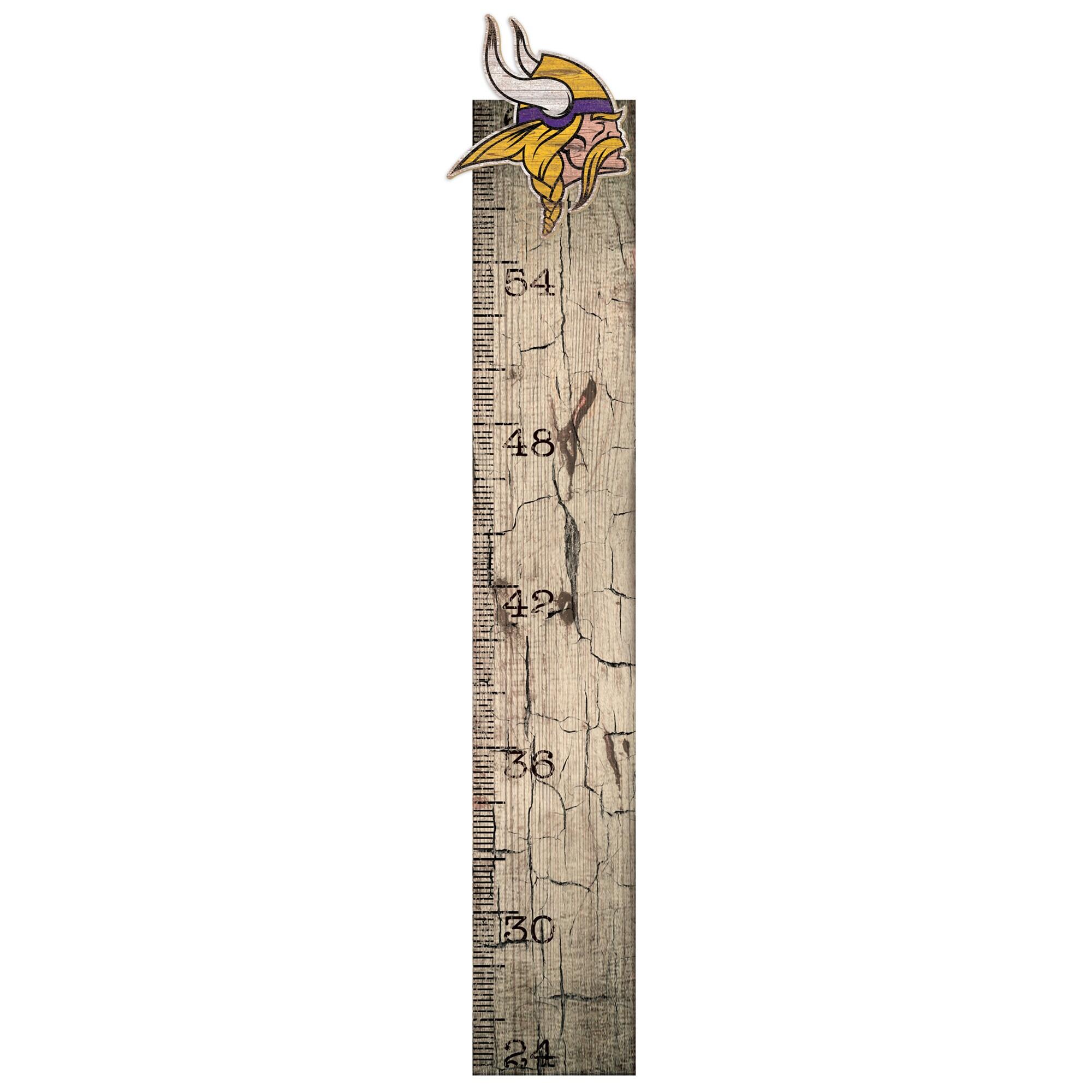 "Minnesota Vikings 6"" x 36"" Growth Chart Sign"
