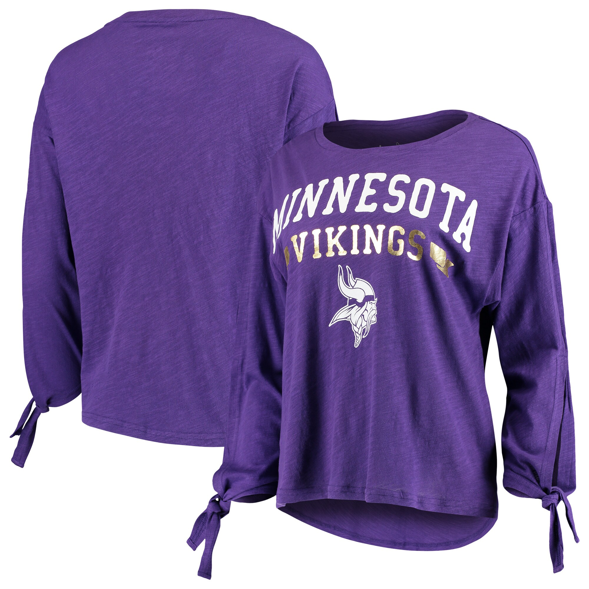 Minnesota Vikings Touch by Alyssa Milano Women's On The Fly Long Sleeve T-Shirt - Purple
