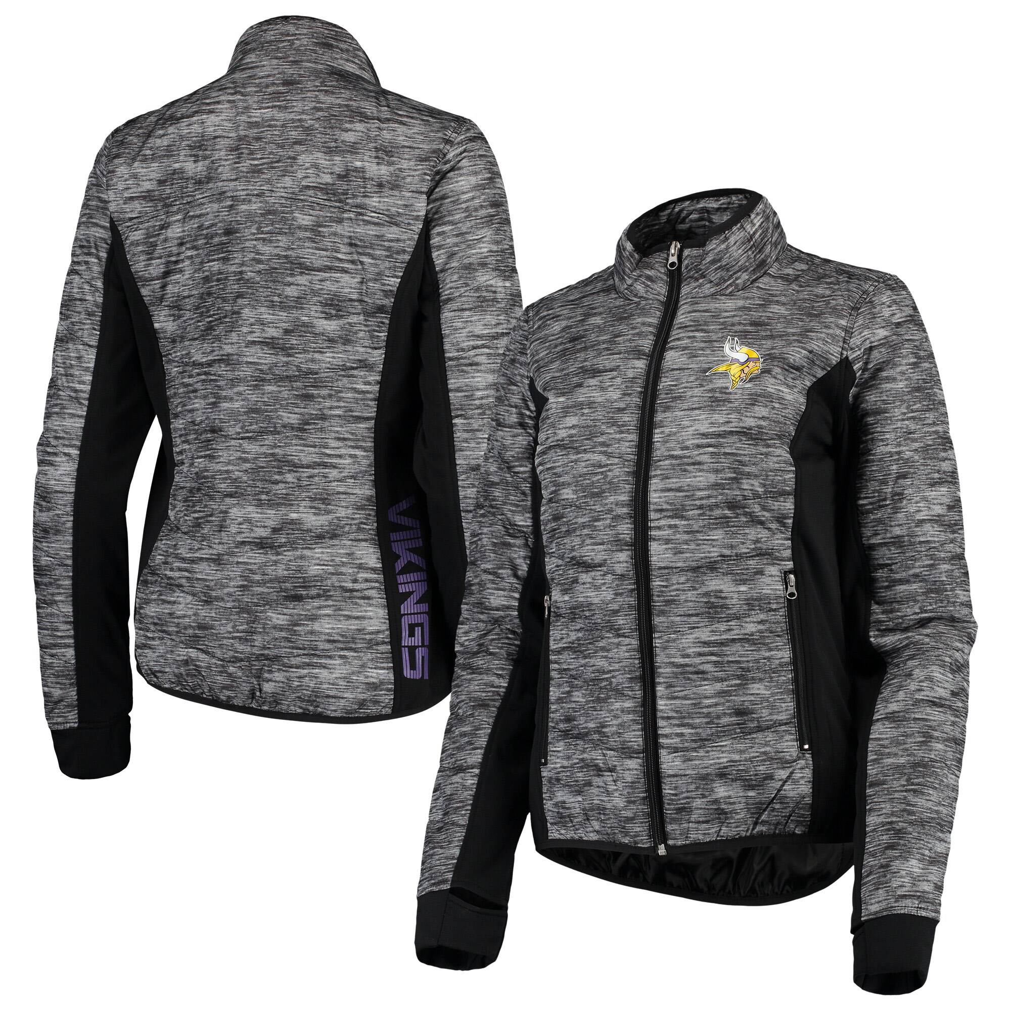 Minnesota Vikings G-III 4Her by Carl Banks Women's Huddle Full-Zip Jacket - Black