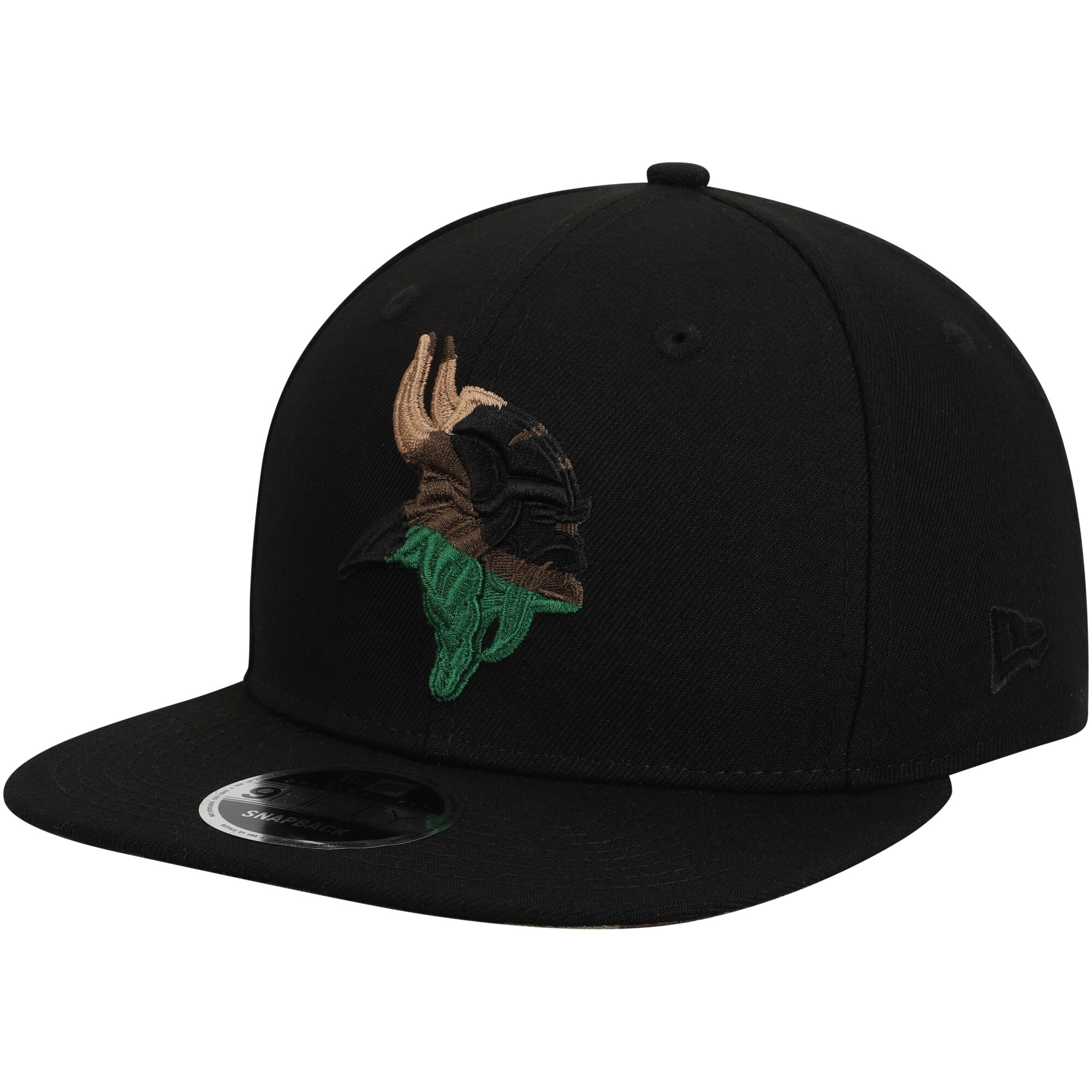 Minnesota Vikings New Era Camo Capped 9FIFTY Adjustable Hat - Black